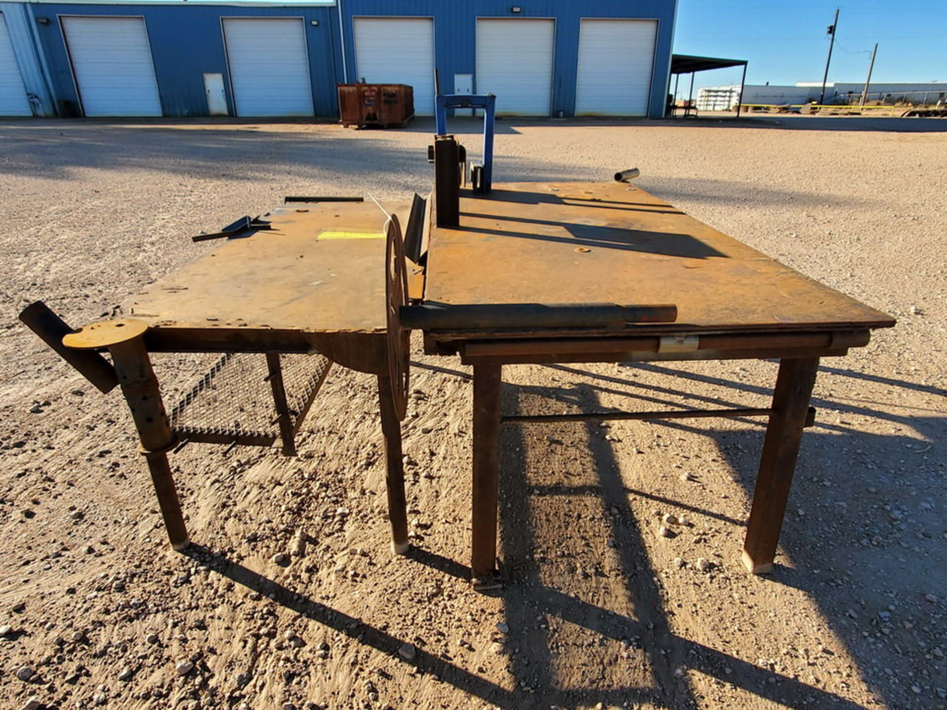 "(2) Stl Welding Tables (1) 48-1/2"" x 96"" x 37""H; (1) 37"" x 78"" x 34-1/2""H - Image 4 of 4"