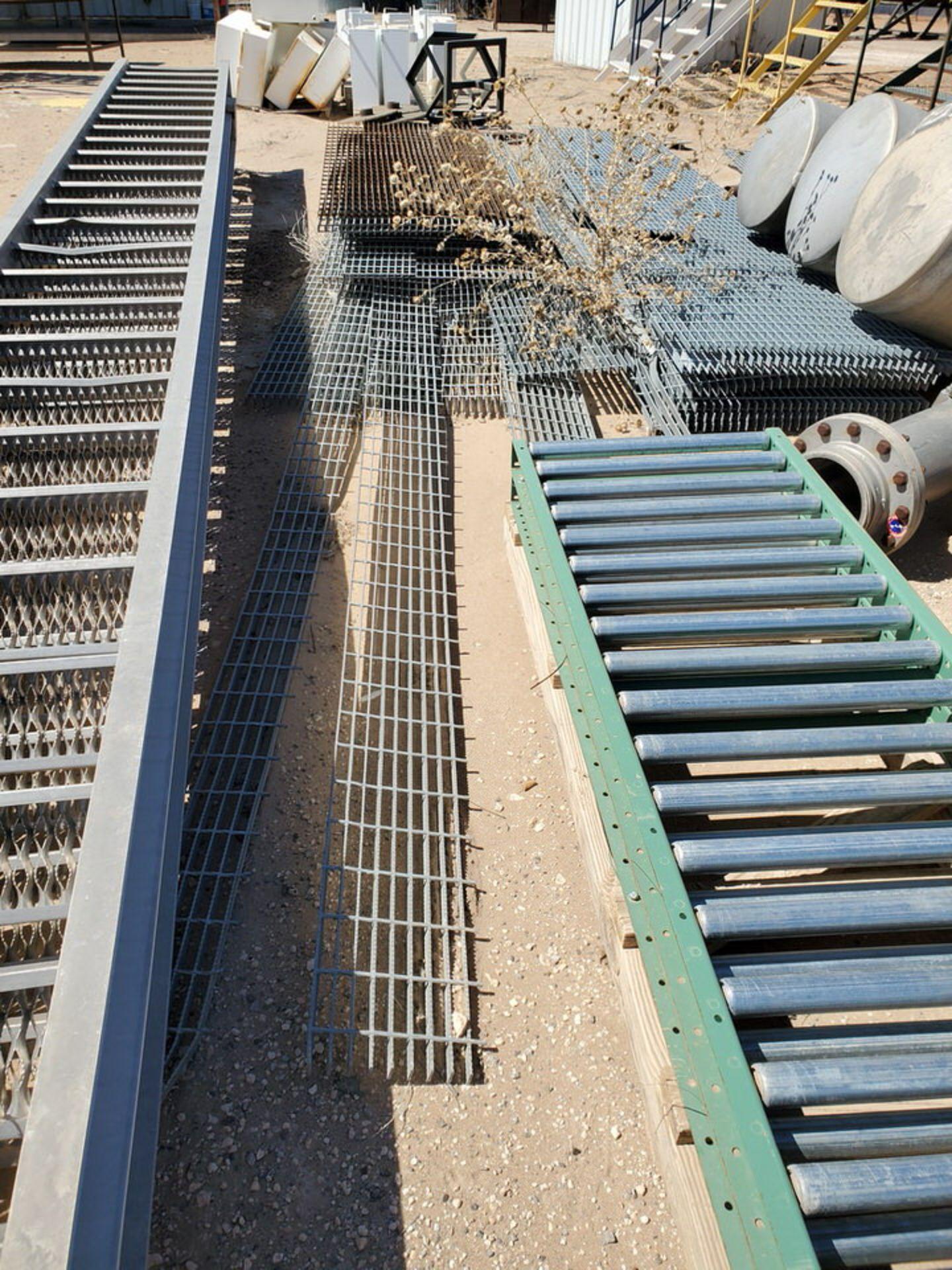 Grating Size Range: 1' - 3'W, 6' - 20'L; W/ Rolling Conveyor - Image 7 of 12