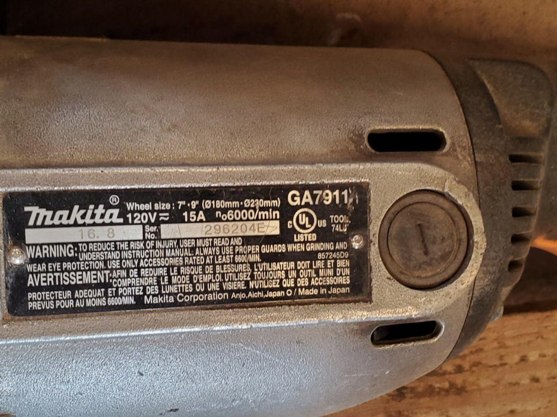 """Makita (4) 7""""-9"""" Angle Grinders 120V, 15A - Image 4 of 4"""