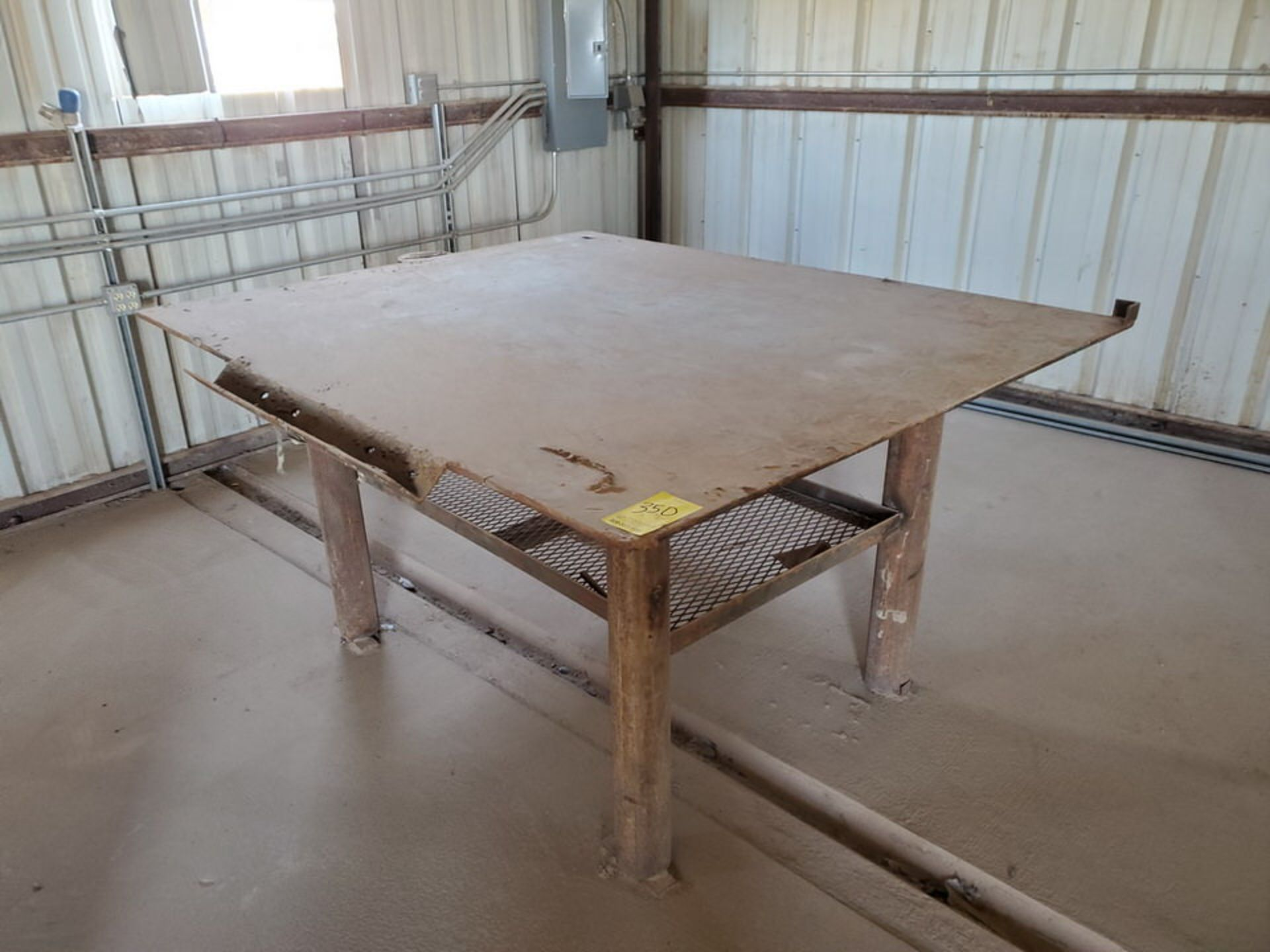 """Welding Tables (1) 37"""" x 65"""" x 36"""", W/ 5-1/2"""" Vise, (1) 72"""" x 64"""" x 38"""" - Image 2 of 8"""