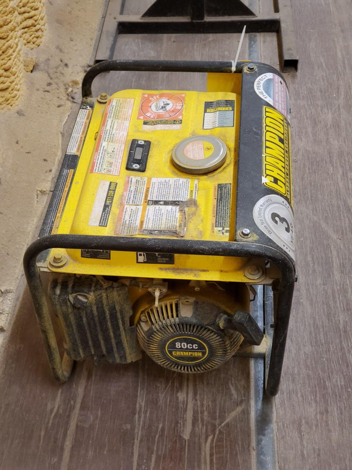 Champion 42432 Portable Generator 1400W, W/ 80cc Engine, 1PH, 60HZ, 120V, 11.7A - Image 3 of 7