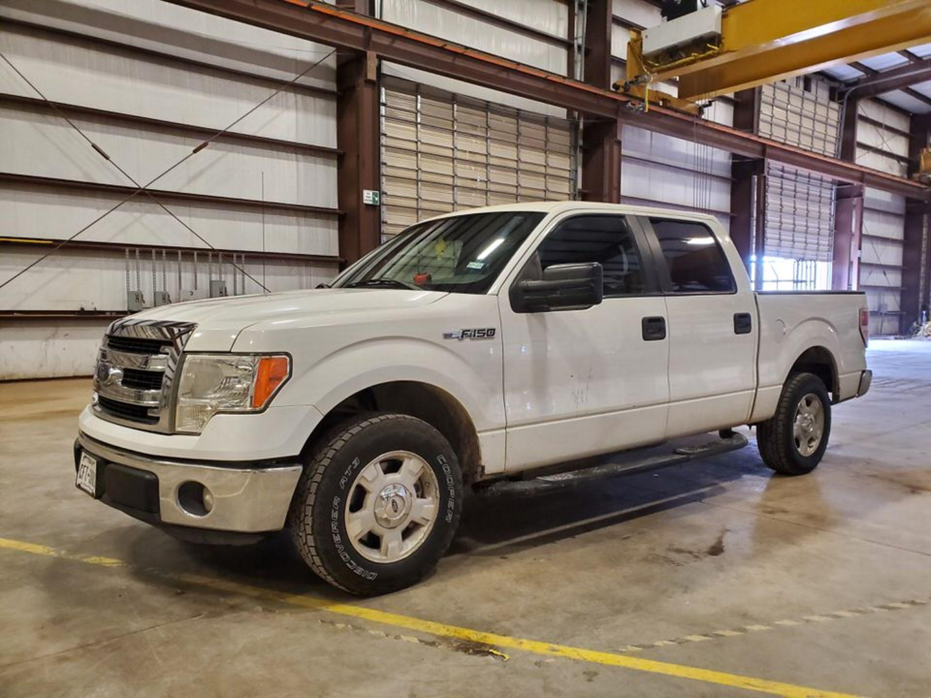 2013 Ford F150 Pickup Vin: 1FTFW1CF0DKF14097, TX Plates: CFT 3081, W/ 6.2L Engine