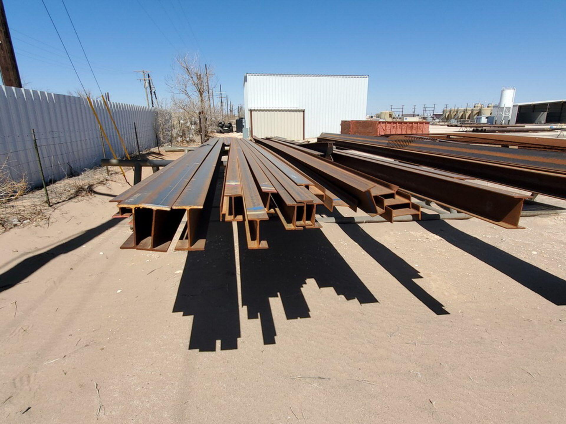 "I-Beam & Grating Size Range: 8"" - 12""Dia, 17' - 40'L W/ Racks - Image 17 of 26"