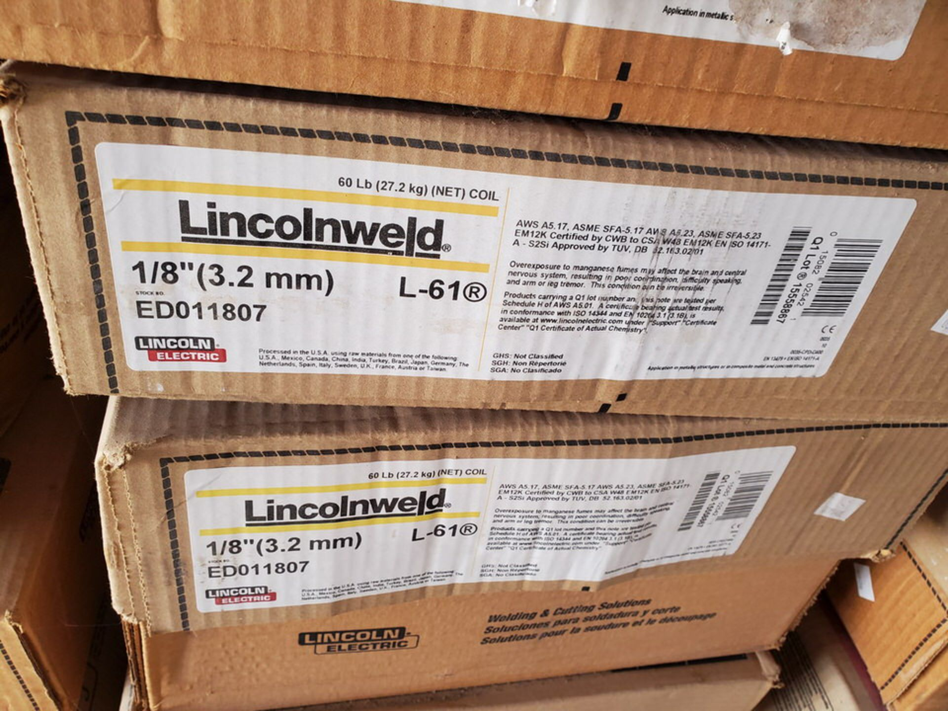 Lincolnweld Assorted Core Wire & Submerged Arc Flux - Image 7 of 12