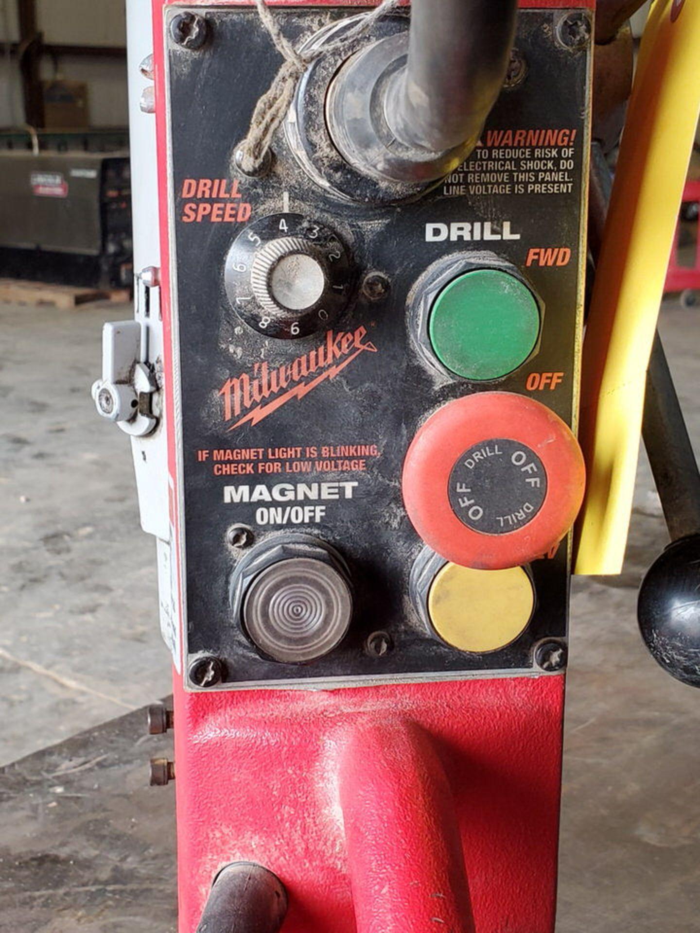 Milwaukee Mag Drill 120V, 12.5A, 60HZ, 250/500RPM - Image 4 of 5
