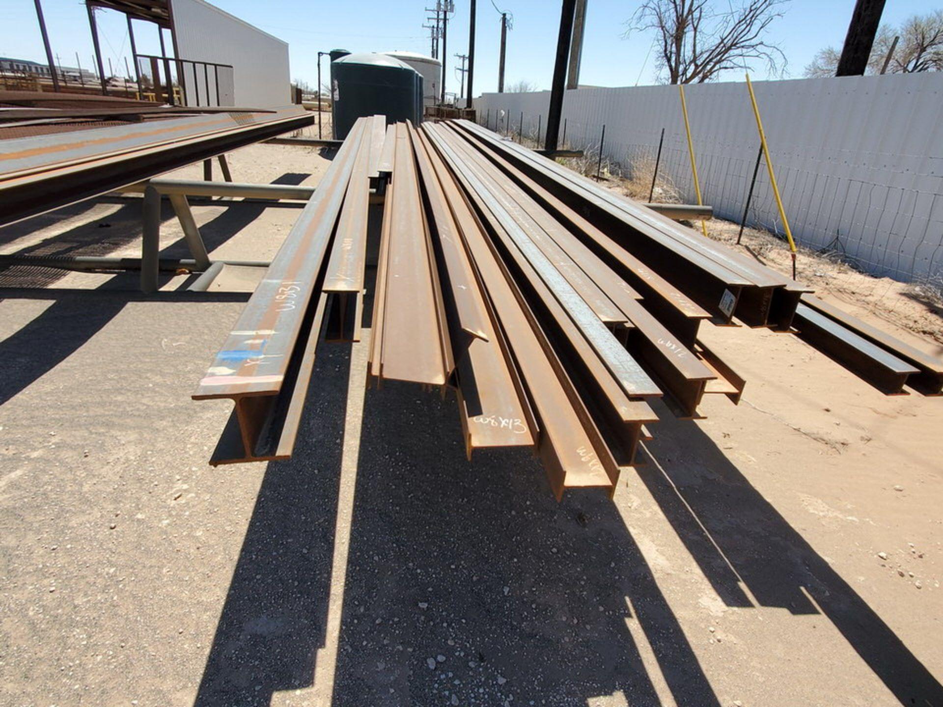 "I-Beam & Grating Size Range: 8"" - 12""Dia, 17' - 40'L W/ Racks - Image 9 of 26"