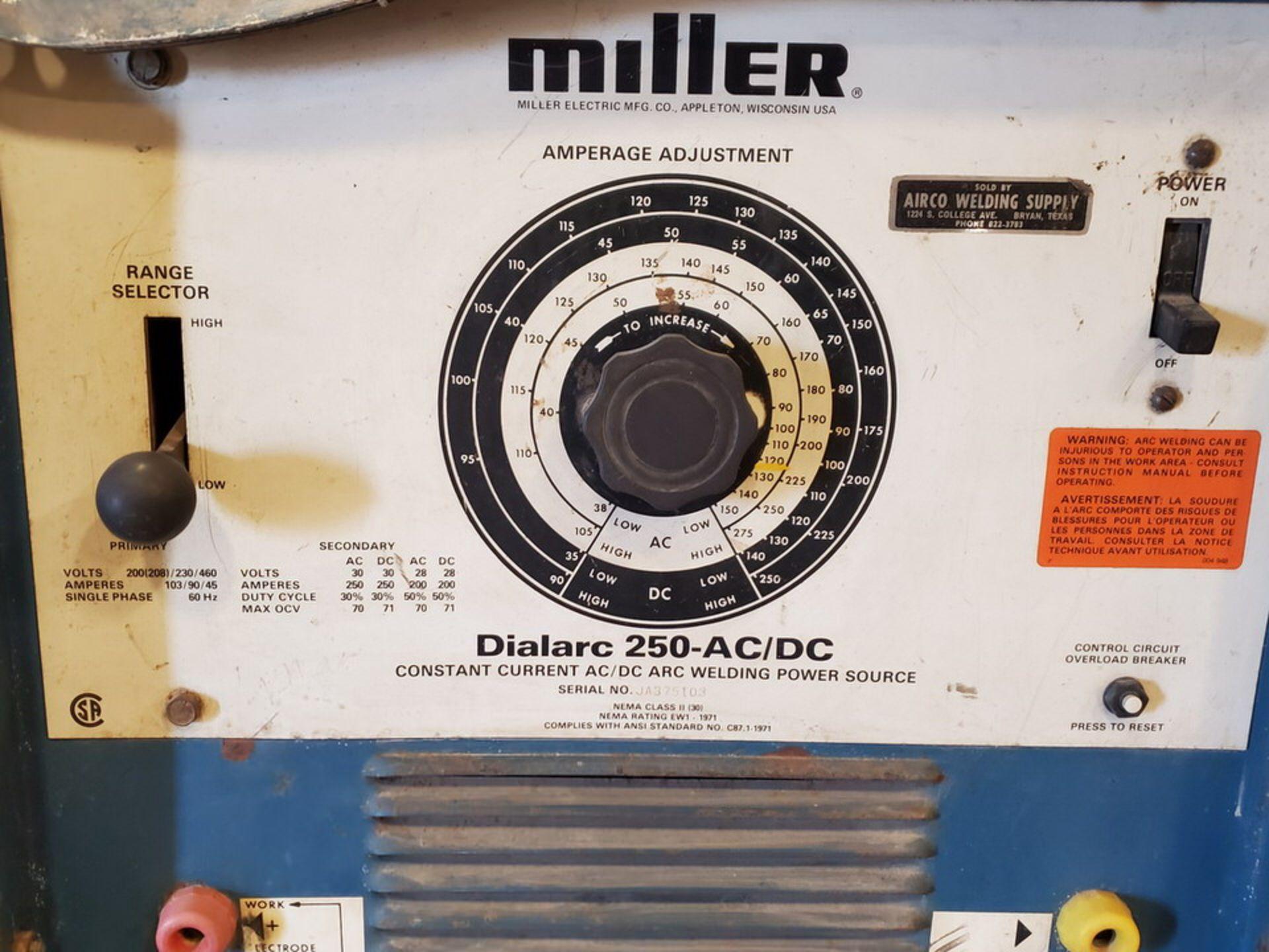 Miller Dialarc 250 Stick Welder 200(208)/230/460V, 60HZ, 1PH - Image 7 of 7
