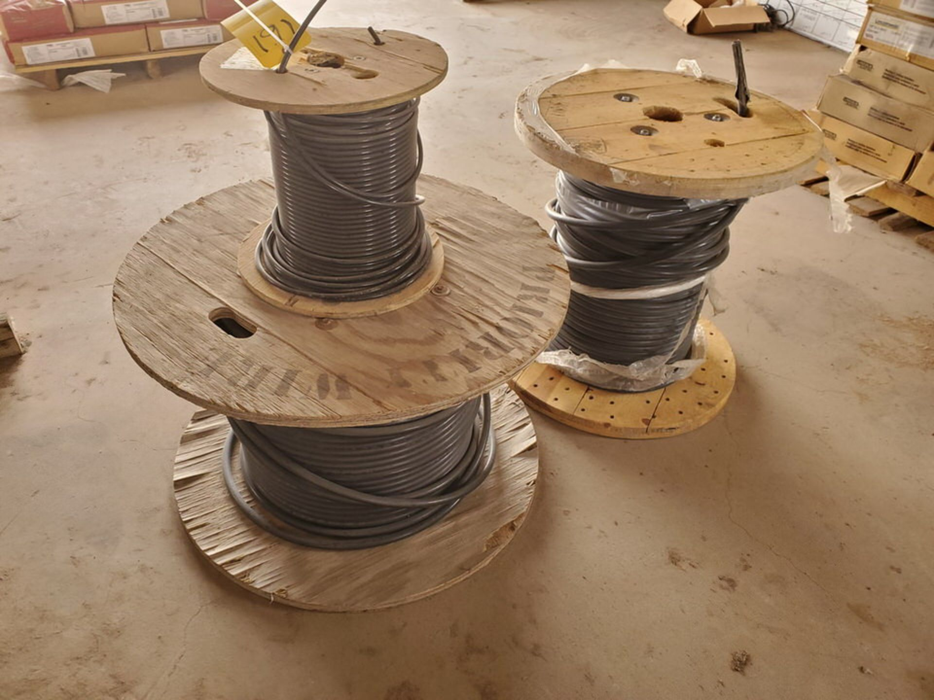 (3) Spools Assorted Wire 4 AWG & Other - Image 3 of 12