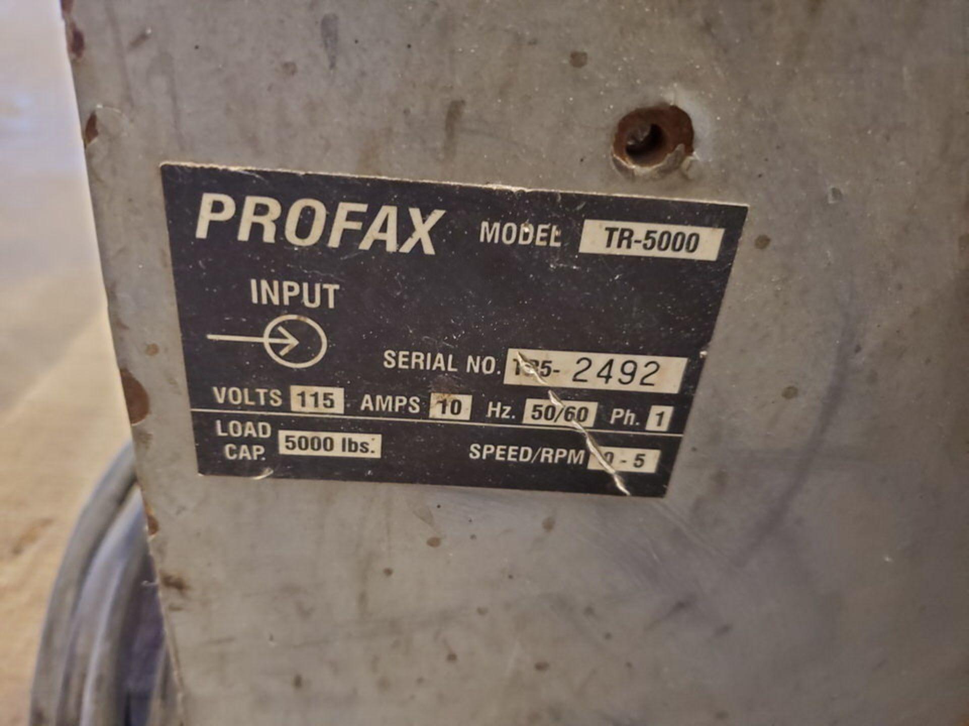"Profax TR-5000 Turn Roll 5K Cap., 115V, 10A, 50/60HZ, 1PH, RPM: 0-5; 3"" Wheel Dia. - Image 7 of 7"