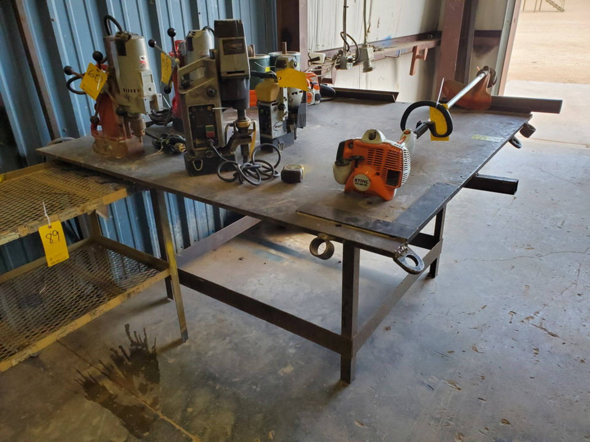 """(2) Stl Welding Tables (1) 72"""" x 72"""" x 37'H; (1) 51"""" x 54"""" x 37""""H - Image 2 of 8"""