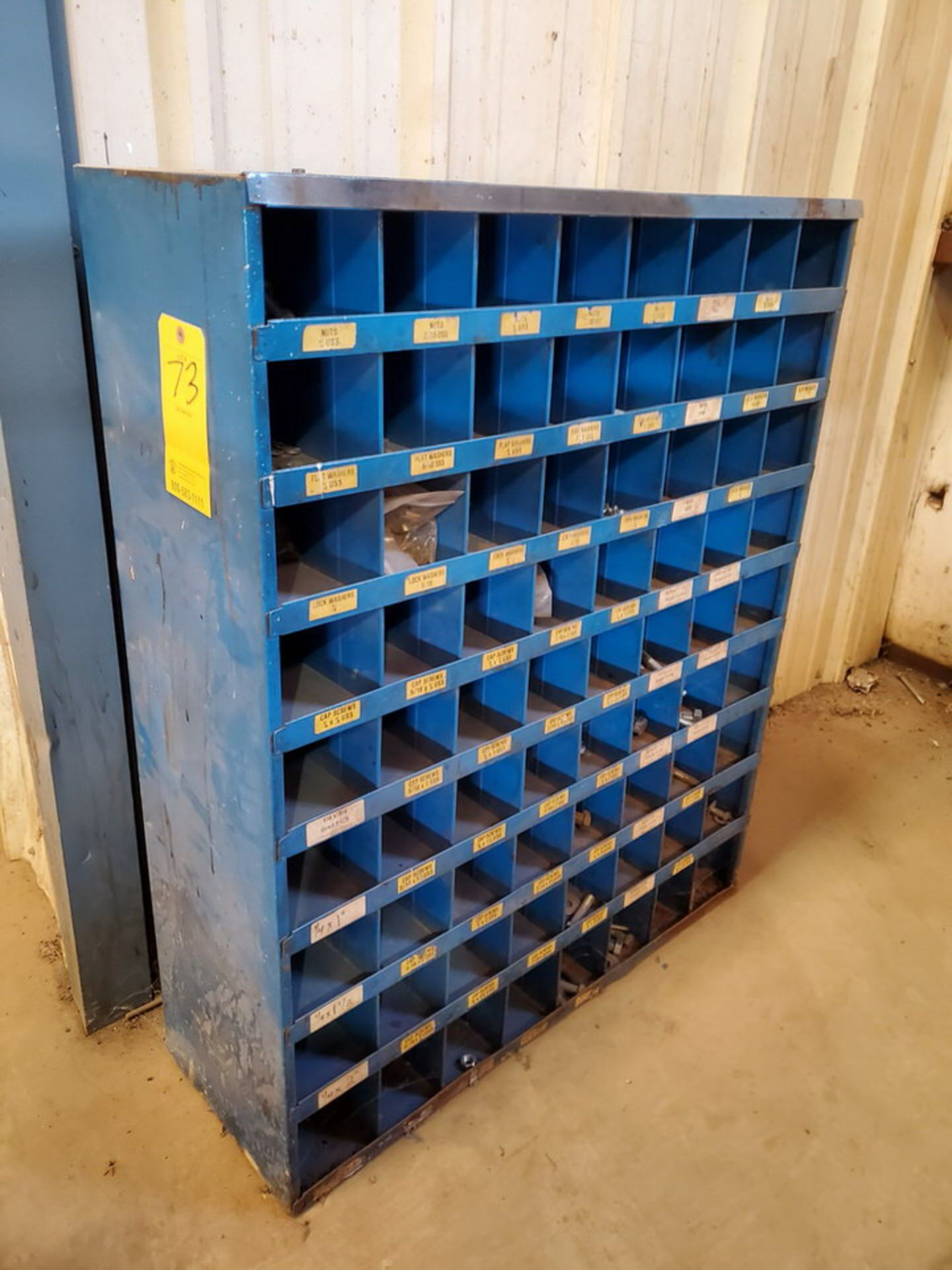 """(2) Parts Bins To Include But Not Limited To: Nuts, Bolts, Washers, etc. Size Range: 1/4""""-4"""""""