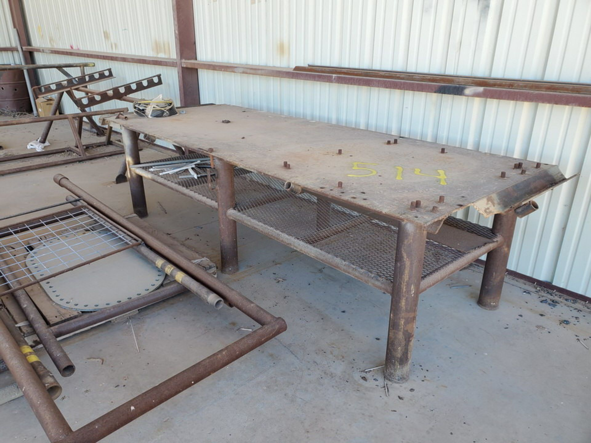 "Misc. Matl. To Include But Not Limited To: 42"" Drum Fan, Saw Horses, Welding Table, etc. - Image 2 of 10"