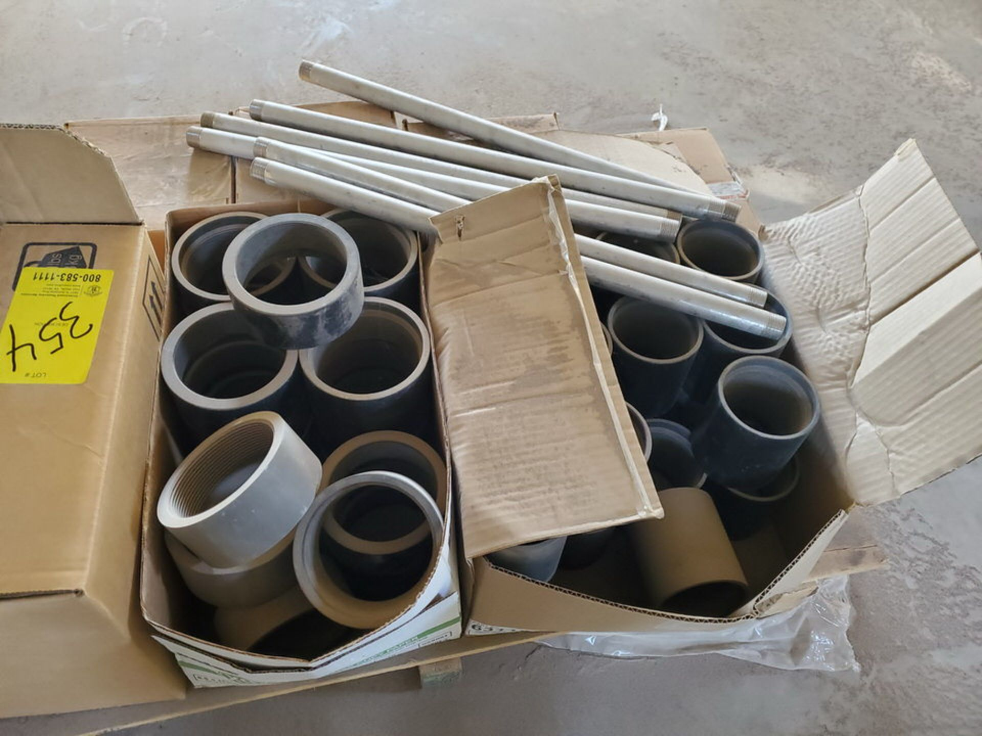 Assorted Material To Include But Not Limited To: Studs, Nuts, Couplings, S/S Nipples, Size Range: - Image 3 of 8