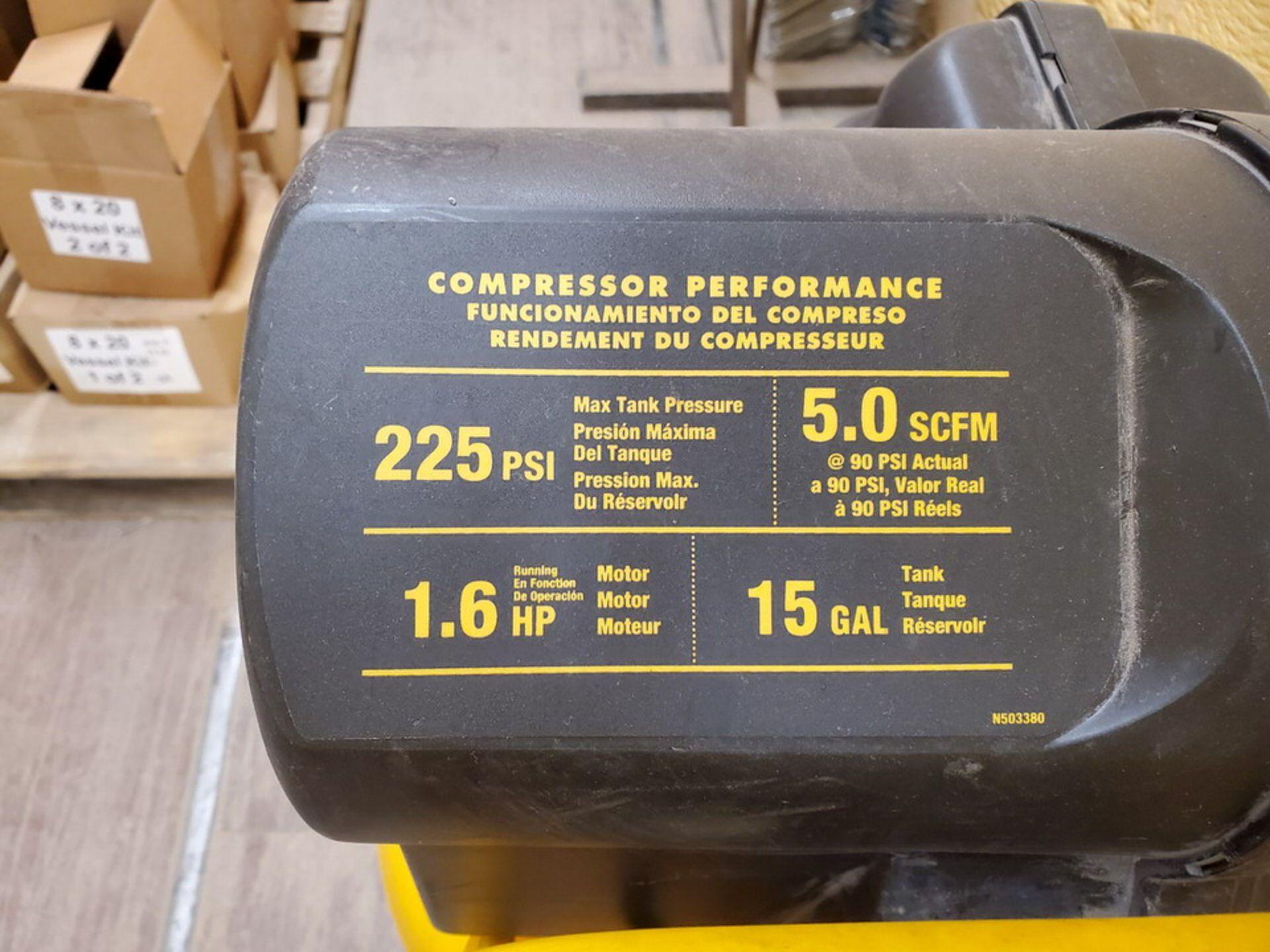 Dewalt Air Compressor 225psi, 1.6HP, 15Gal, 5.0 SCFM - Image 6 of 6