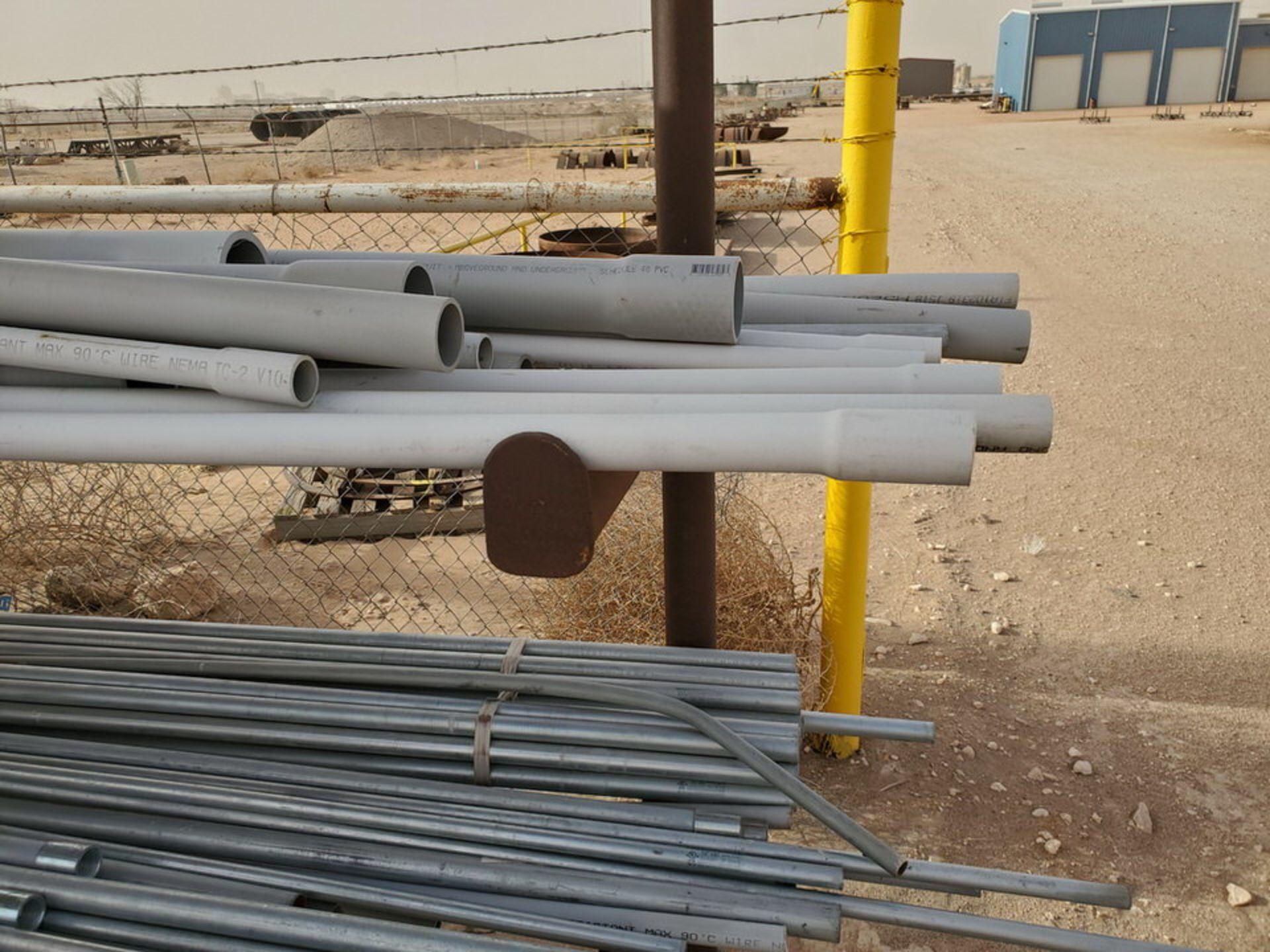 "PVC & Alum. Pipe W/ Conduit Size Range: 1/2"" - 4"" W/ Rack - Image 6 of 18"