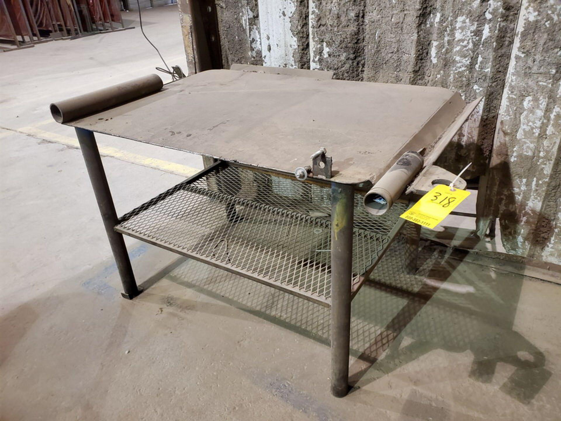 "Stl Welding Table 40"" x 53"" x 34""H"