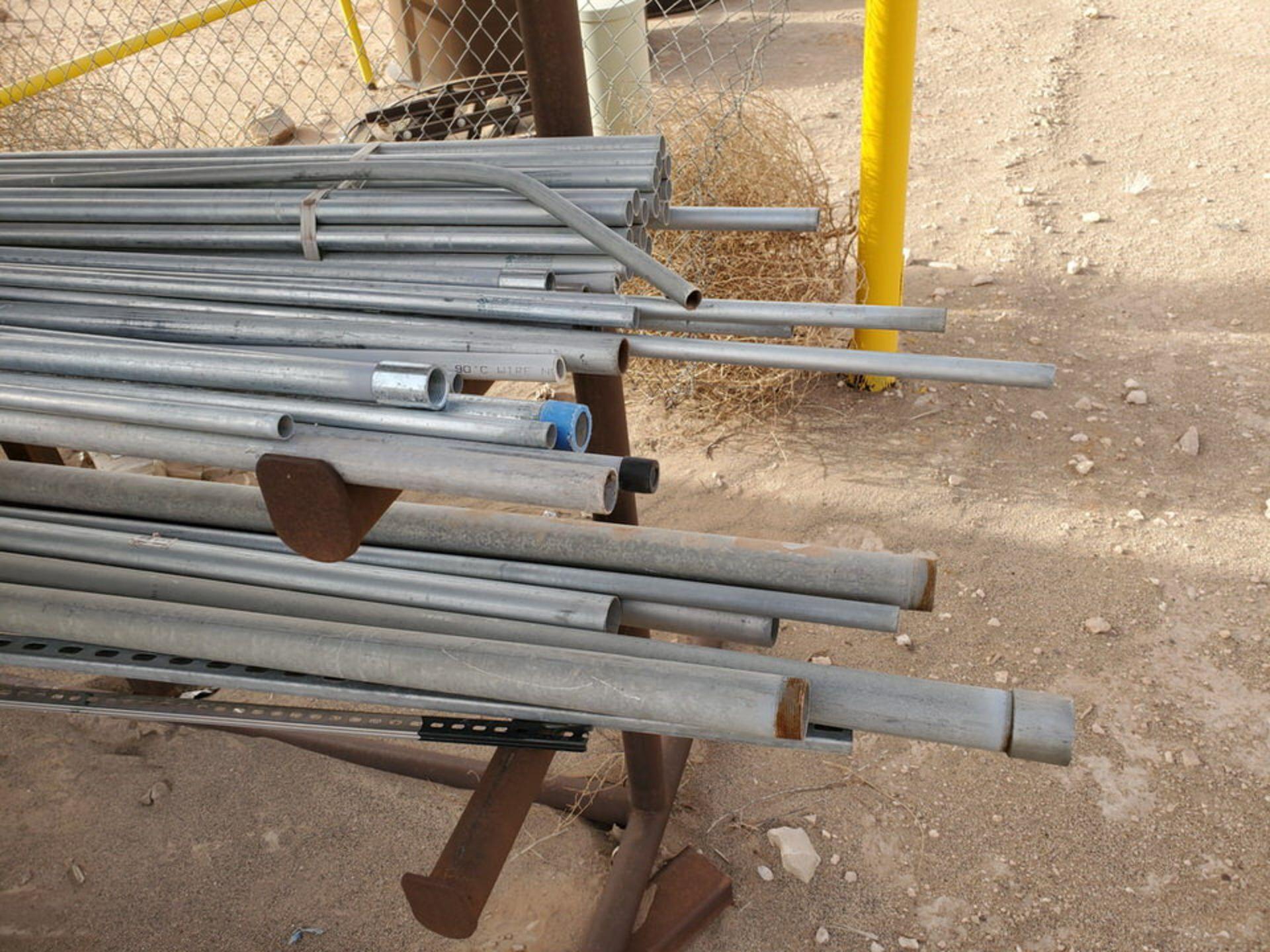 "PVC & Alum. Pipe W/ Conduit Size Range: 1/2"" - 4"" W/ Rack - Image 5 of 18"