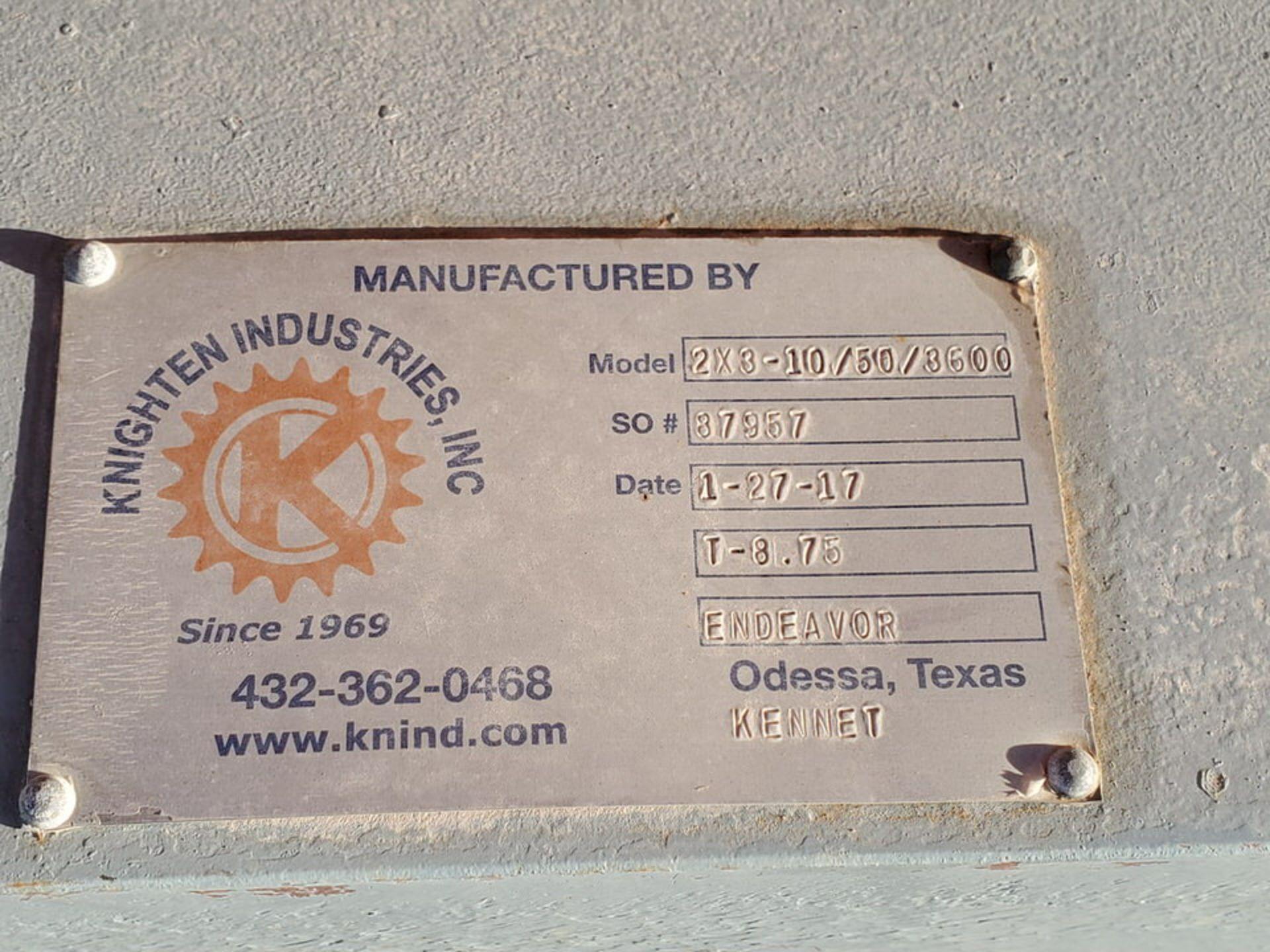 2017 Knighten Ind. 2x3-10/50/3600 2x3-10 Centrifugal Pump - Image 7 of 7