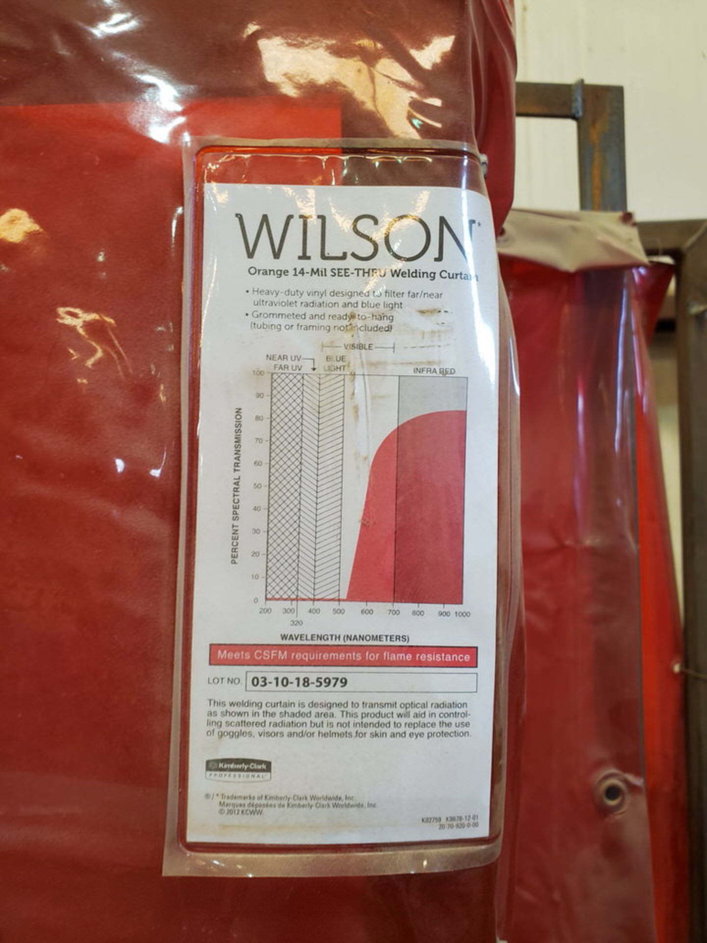 Wilson (10) Welding Curtains - Image 4 of 5