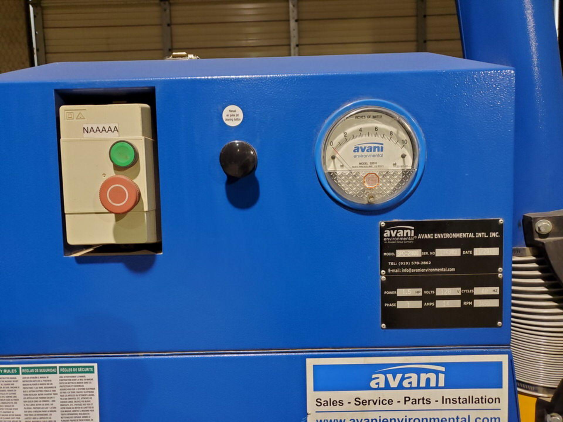 2017 Avanti SPC-2000 Portable Dust Collector 1-1/2HP, 120V, 60HZ, 1PH, 14A, 3450RPM - Image 6 of 7
