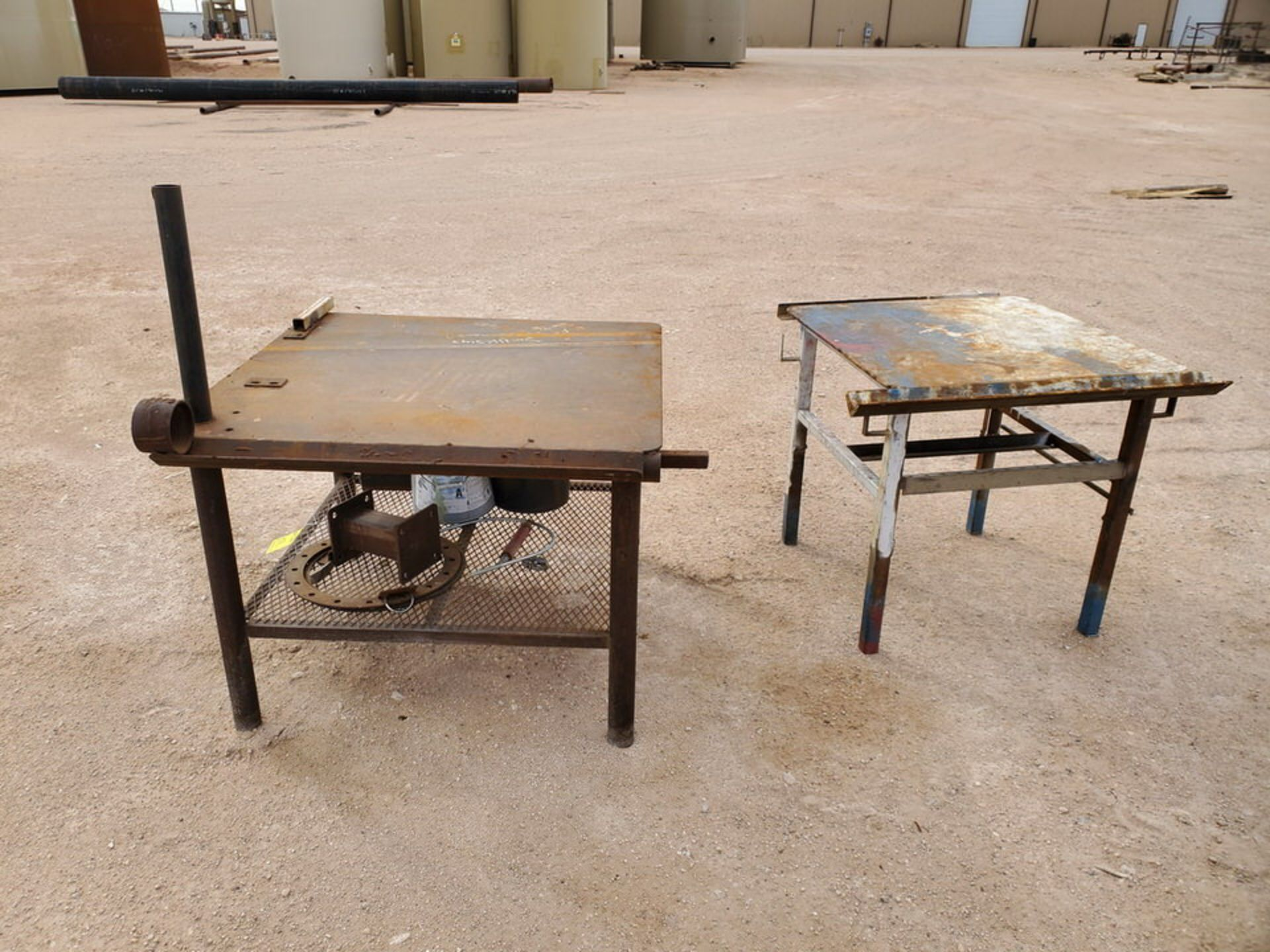 "(2) Stl Welding Tables (1) 43"" x 48"" x 36"", (1) 39"" x 36"" x 36"" - Image 5 of 5"