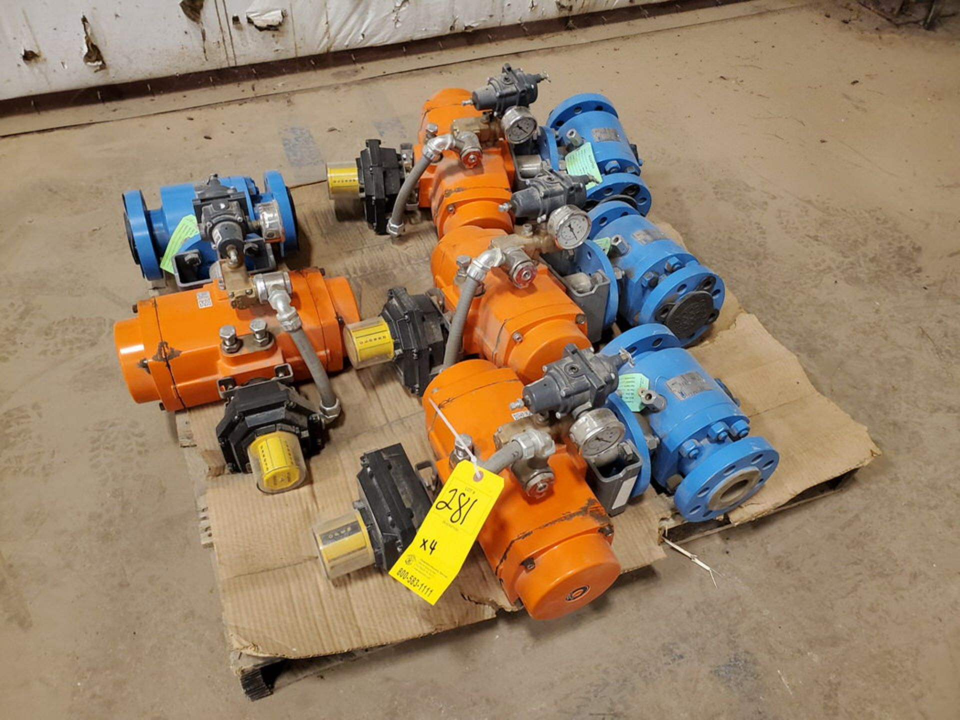 "2018 GWC (4) 2"" x 2"" Actuated Ball Valves 600 Class, 1480psi@-20F, 1310psi@300F"