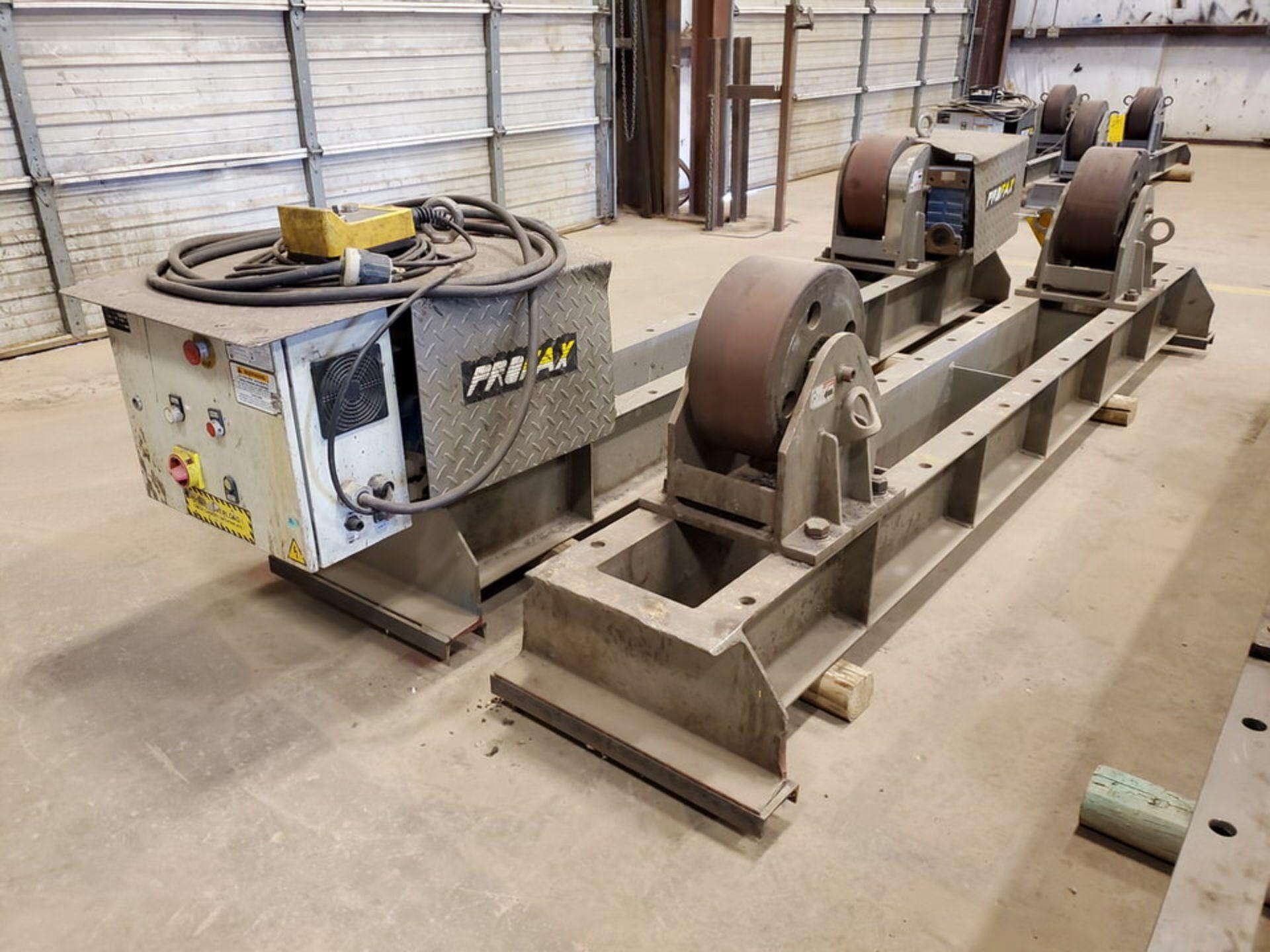 "Profax TR-40000 Turn Roll 20H Cap., 440V, 15A, 50/60HZ, 3PH, RPM: 0-1.7, 6"" Wheel Dia. - Image 4 of 8"