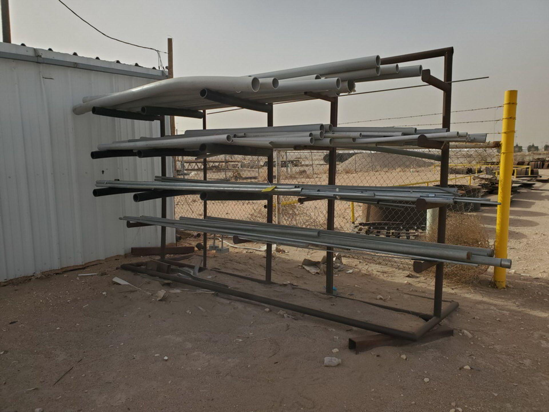"PVC & Alum. Pipe W/ Conduit Size Range: 1/2"" - 4"" W/ Rack"