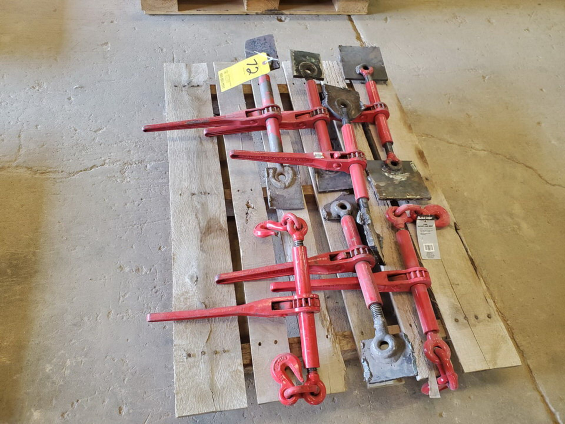 "(7) 3/8"" Ratchet Load Binders 9200lb Cap. - Image 3 of 6"
