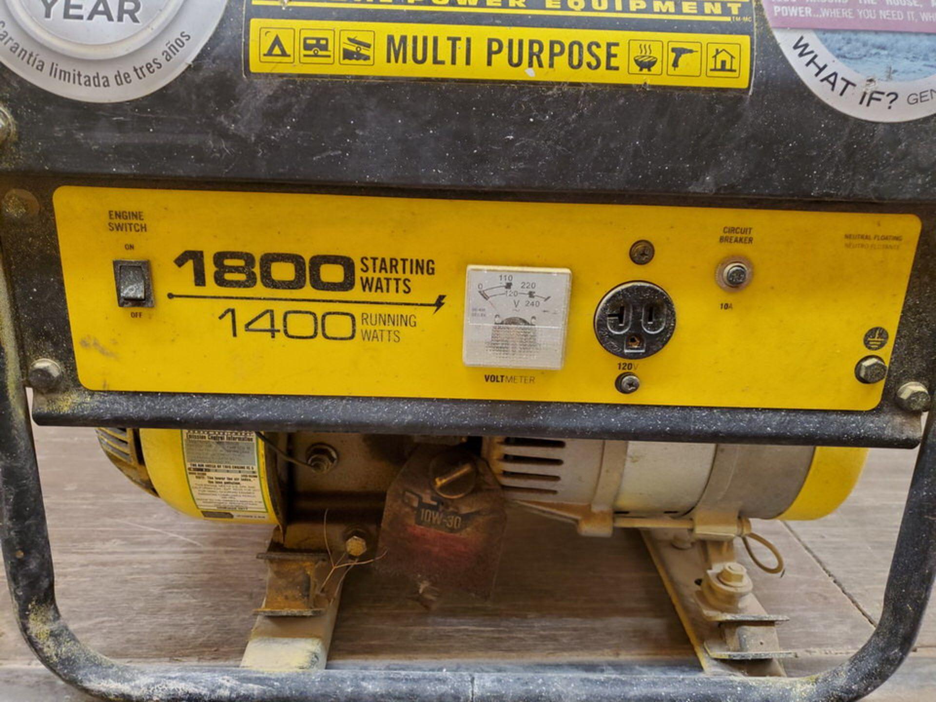 Champion 42432 Portable Generator 1400W, W/ 80cc Engine, 1PH, 60HZ, 120V, 11.7A - Image 5 of 7