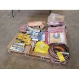 Assorted Welding Material To Include But Not Limited To: Electrode Holders, Gloves, Hoses, Rods,