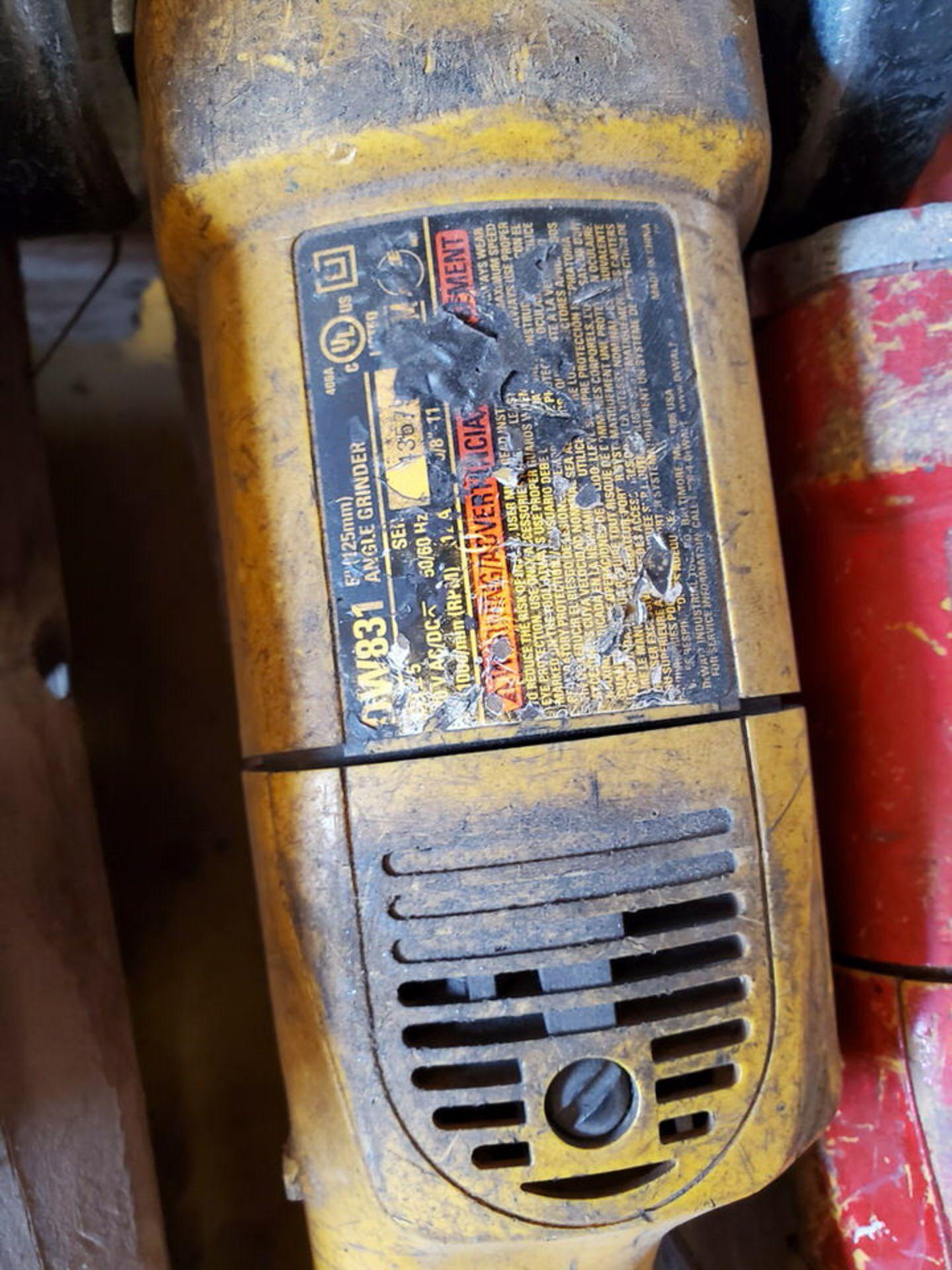 """Dewalt (5) 5"""" Angle Grinders 120V, 12A - Image 4 of 4"""