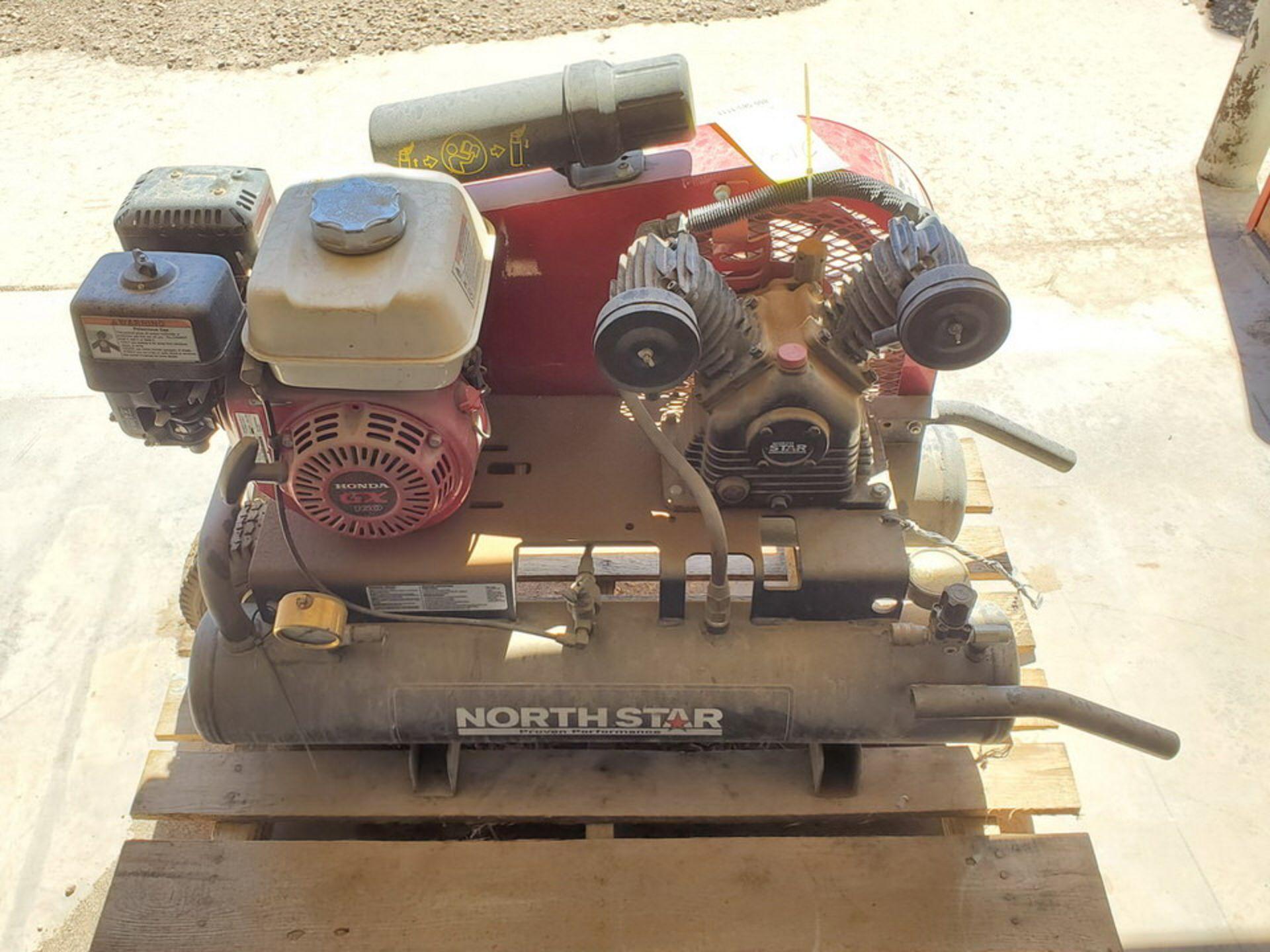 North Star Air Compressor 130psi, 8Gal Cap., W/ Honda GX160 Engine, 15.7CFM@90psi - Image 5 of 6