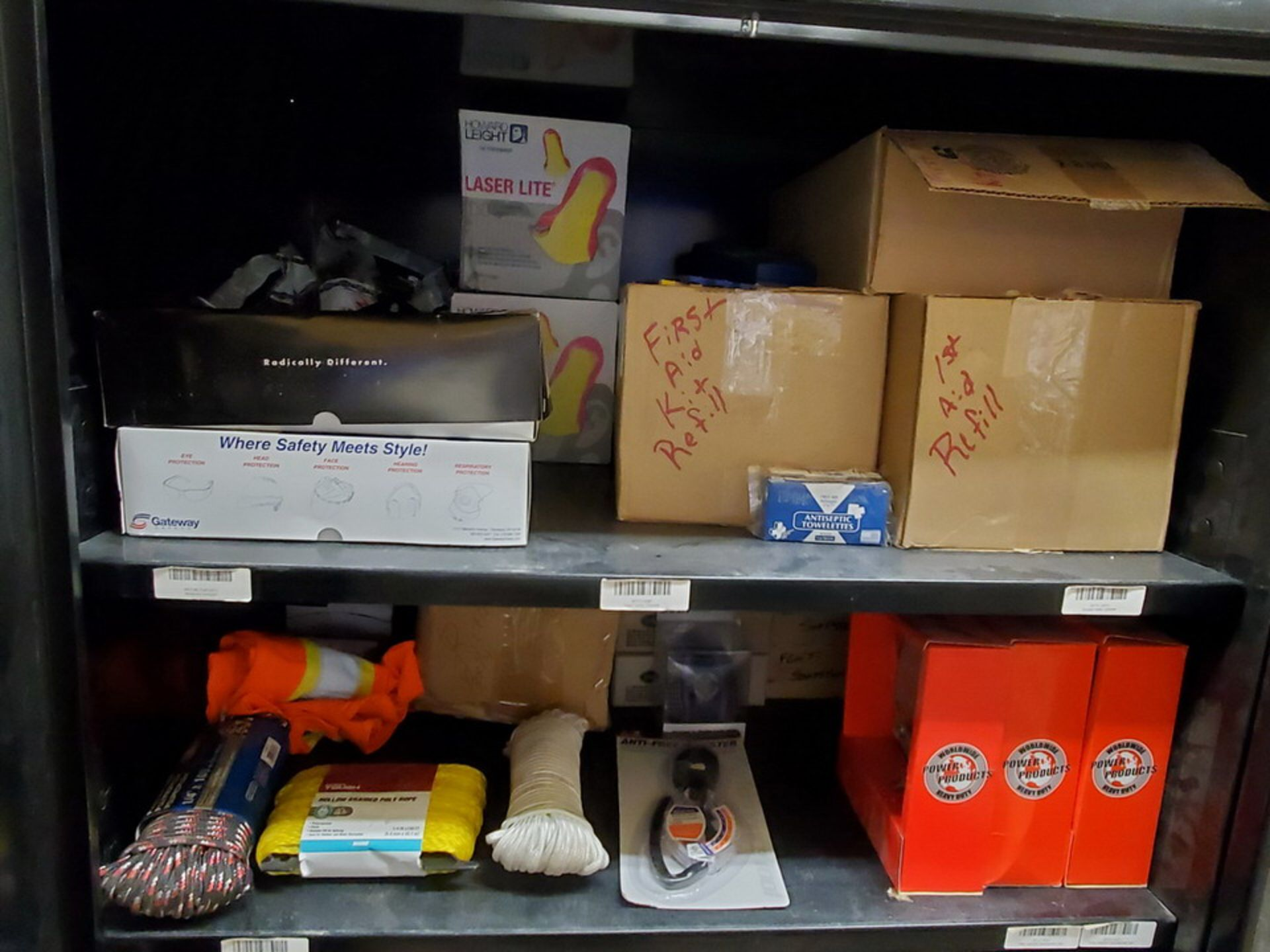 Metal Storage Locker To Include But Not Limited To: First Aid Refill Kits, Assorted Fittings, - Image 2 of 13