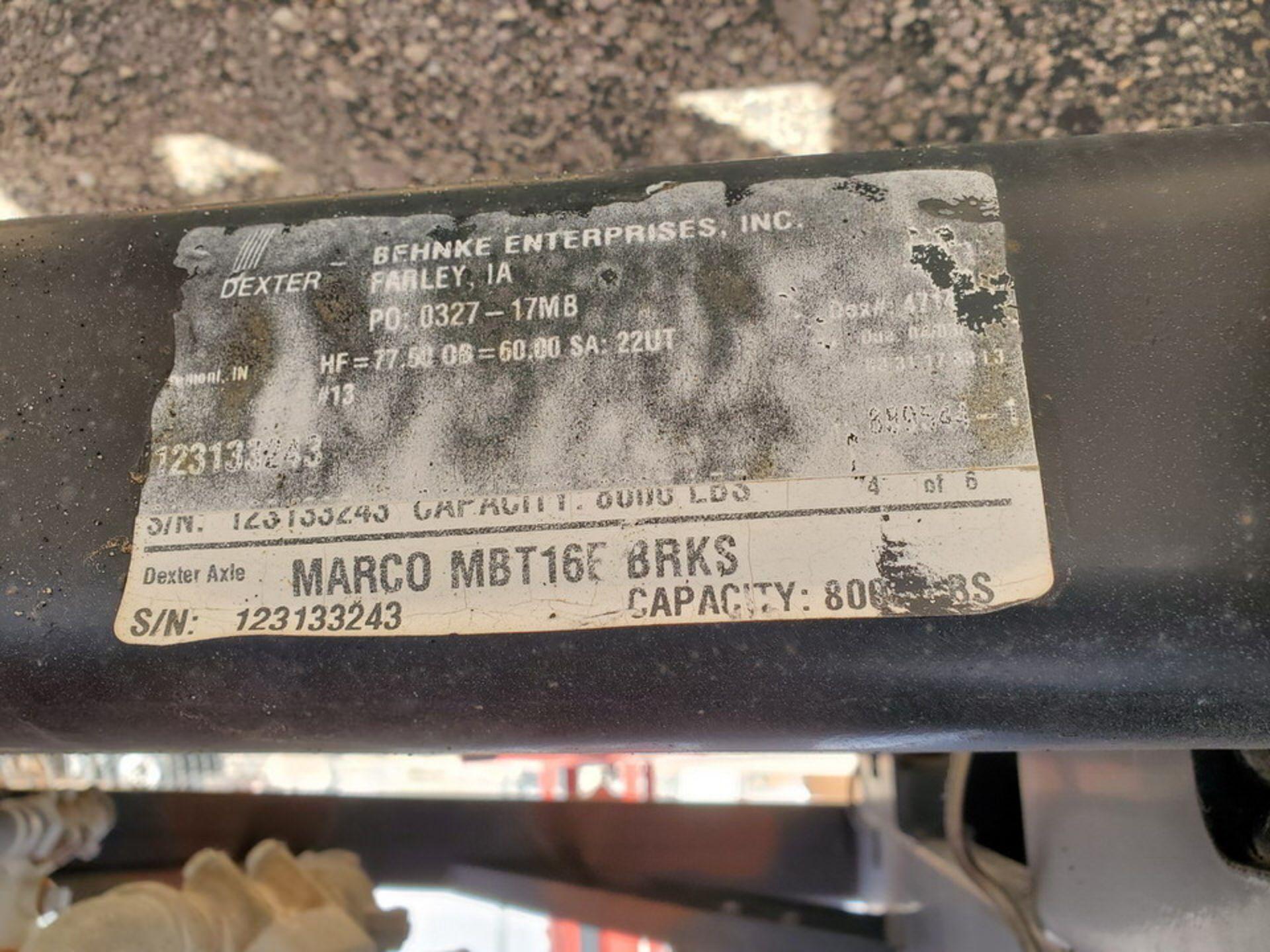 "2017 Marco Sand Blast Master Portable Sandblast Unit 150psi@250F, -20F@150psi, Vessel Dims: 48"" Seam - Image 16 of 18"