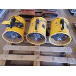 """Strongway (3) 12"""" Utility Blowers 120V, 430W, 1300RPM, 60HZ, 3.8A"""