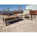 "(2) Welding Tables (1) 4' x 10'6"" x 3', (1) 48"" x 76"" x 32""; W/ Table Frame, 42"" x 78"" x 36"""