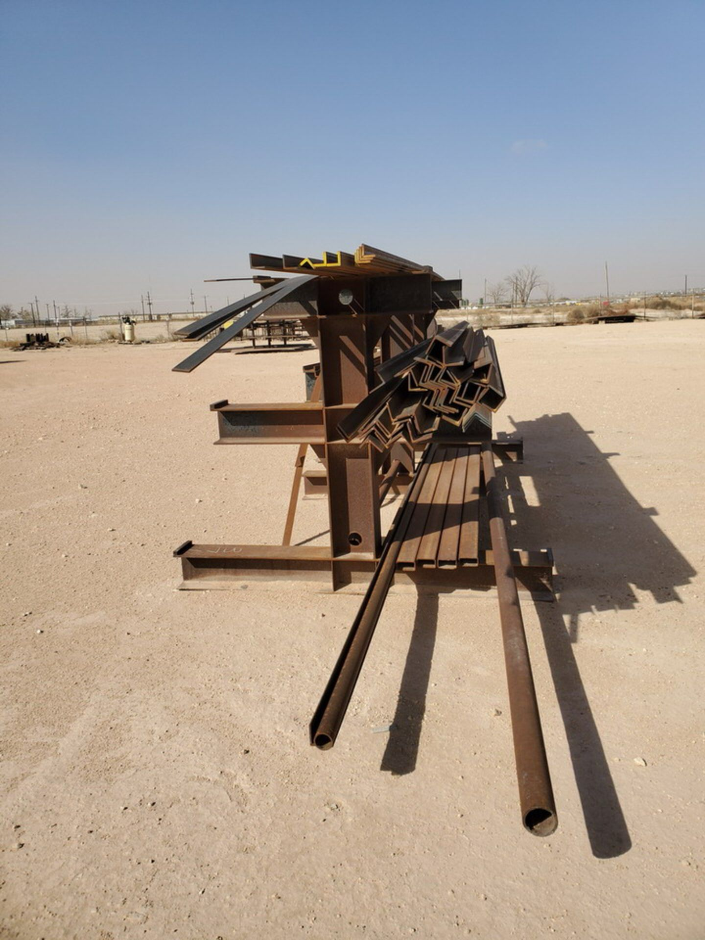 """(65) Angle, Pipe, Rect. Tubing & Other D: 3""""-4"""", L: 10' - 23'6""""; W/ Racks - Image 3 of 19"""