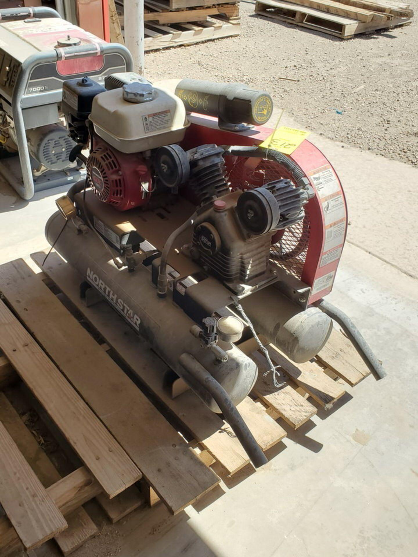 North Star Air Compressor 130psi, 8Gal Cap., W/ Honda GX160 Engine, 15.7CFM@90psi - Image 4 of 6