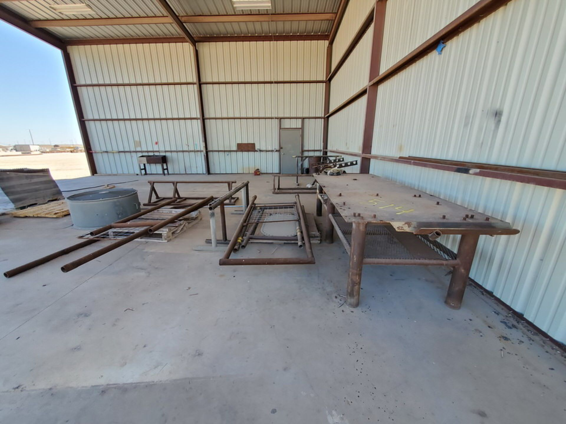 "Misc. Matl. To Include But Not Limited To: 42"" Drum Fan, Saw Horses, Welding Table, etc."