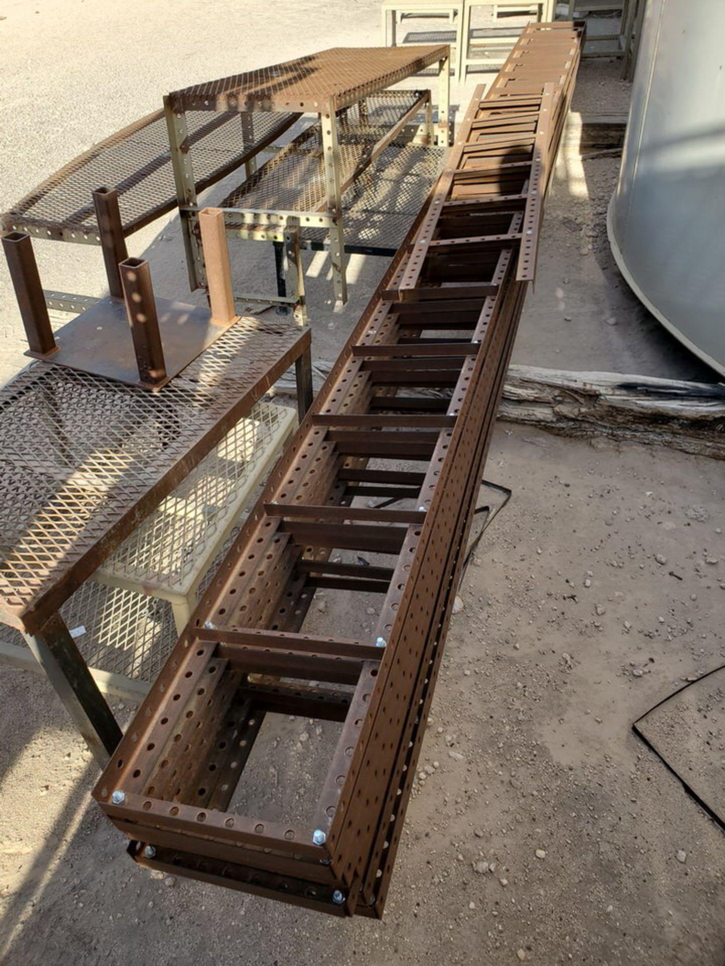 "Assorted Stl Matl. Racks & Ladders Size Range: 30"" x 26"" x 25""H - 29"" x 48"" x 50""H - Image 3 of 18"