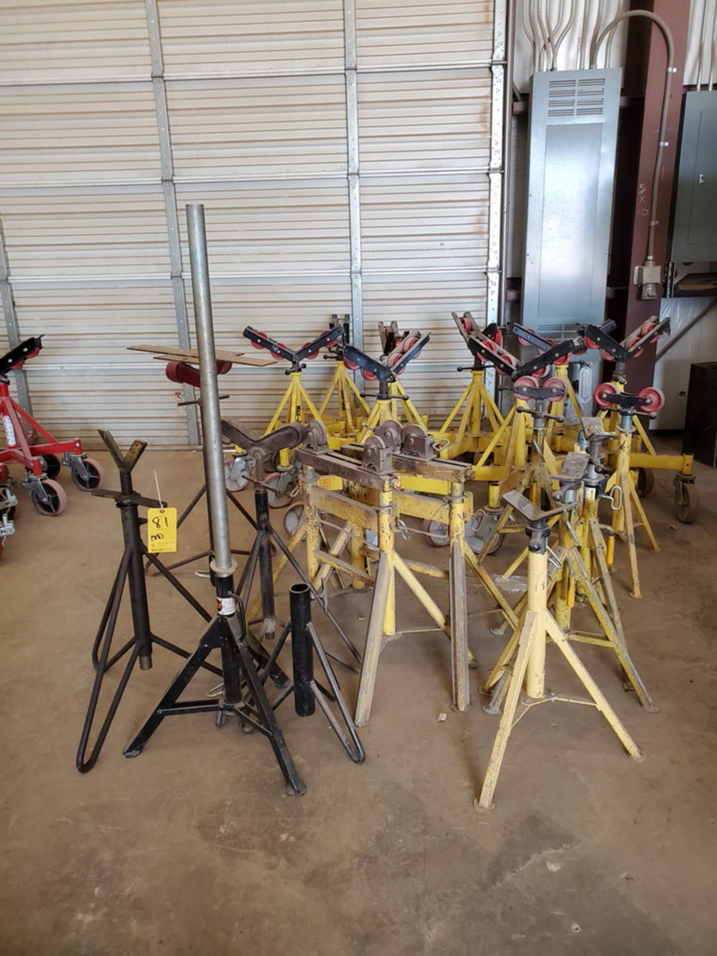 Max & Other (21) Pipe Stands & Rollers 1K-5K Cap.