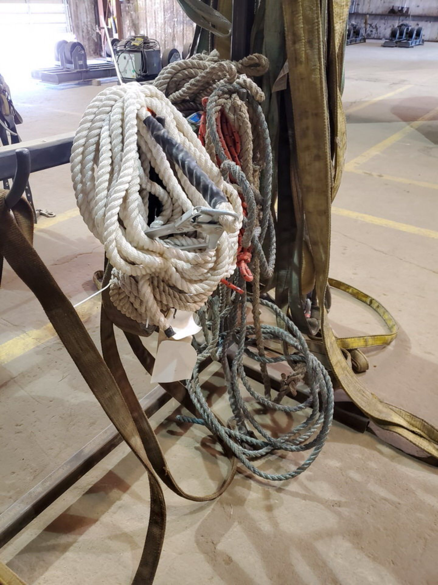 Assorted Lifting Poly Slings, Rope W/ Rack - Image 5 of 7