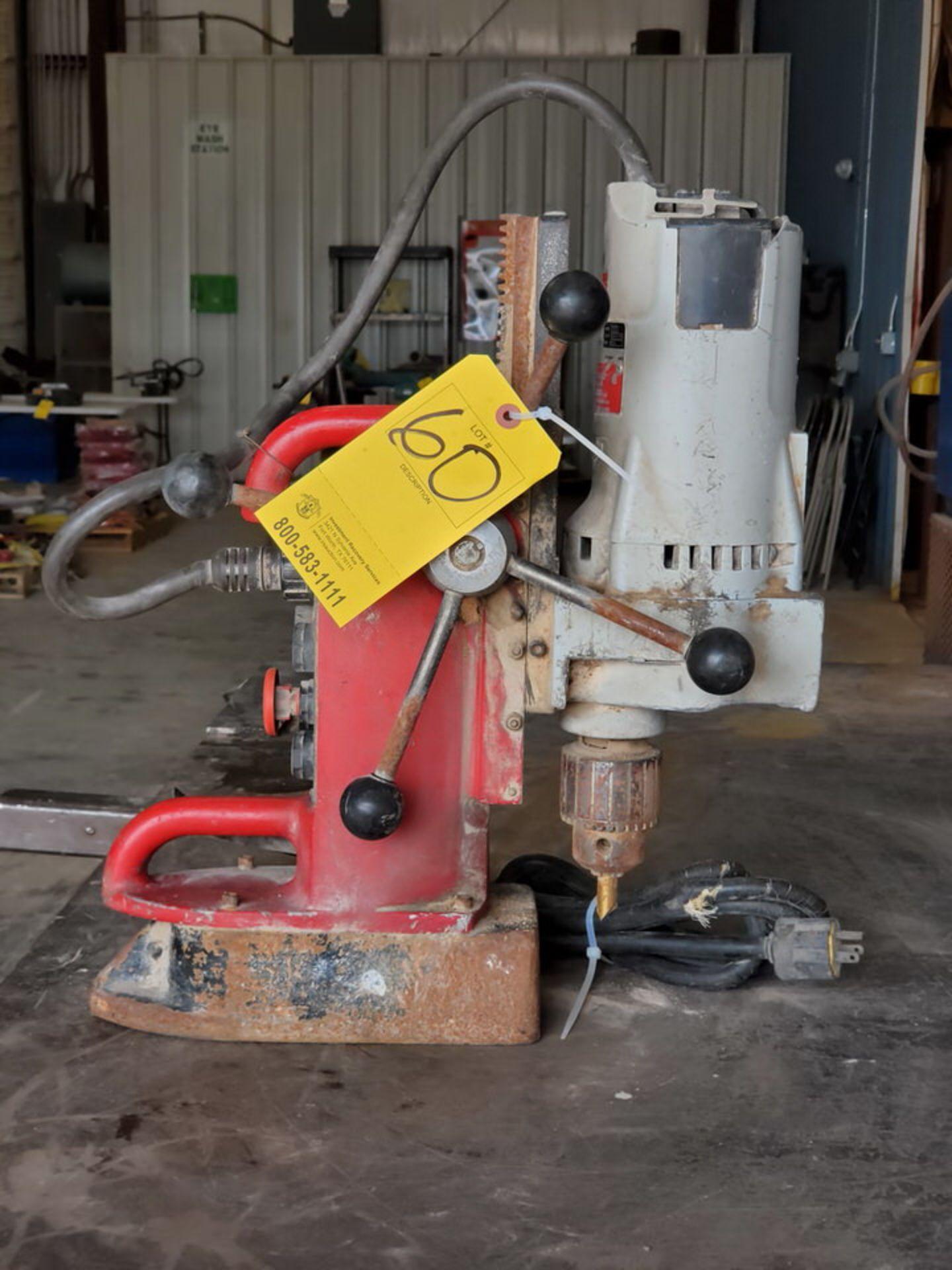 Milwaukee Mag Drill 120V, 12.5A, 60HZ, 250/500RPM - Image 3 of 5