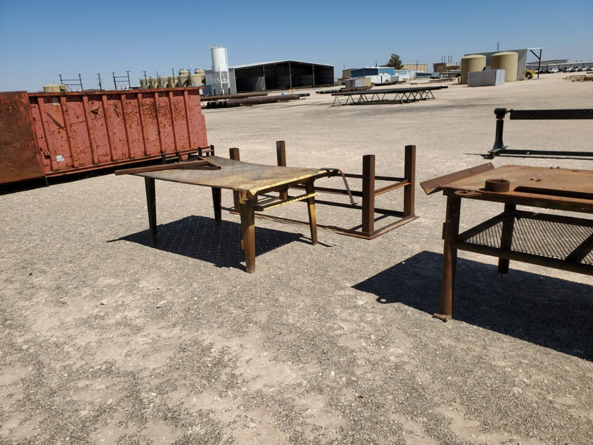"(2) Welding Tables (1) 4' x 10'6"" x 3', (1) 48"" x 76"" x 32""; W/ Table Frame, 42"" x 78"" x 36"" - Image 5 of 8"