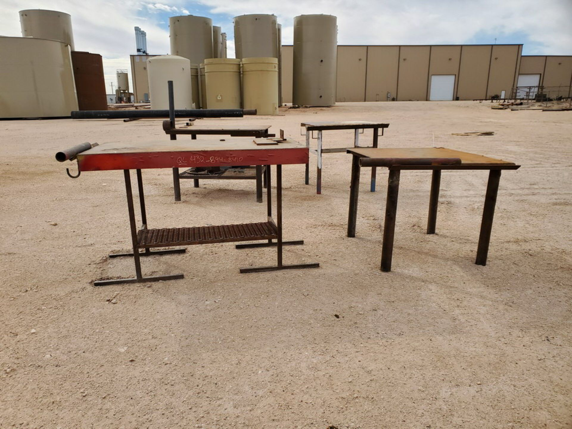 """(2) Stl Welding Tables (1) 36"""" x 43"""" x 30"""", (1) 60"""" x 29"""" 36"""" - Image 3 of 6"""