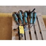"Makita (5) 5"" Angle Grinders 120V, 10.2A"