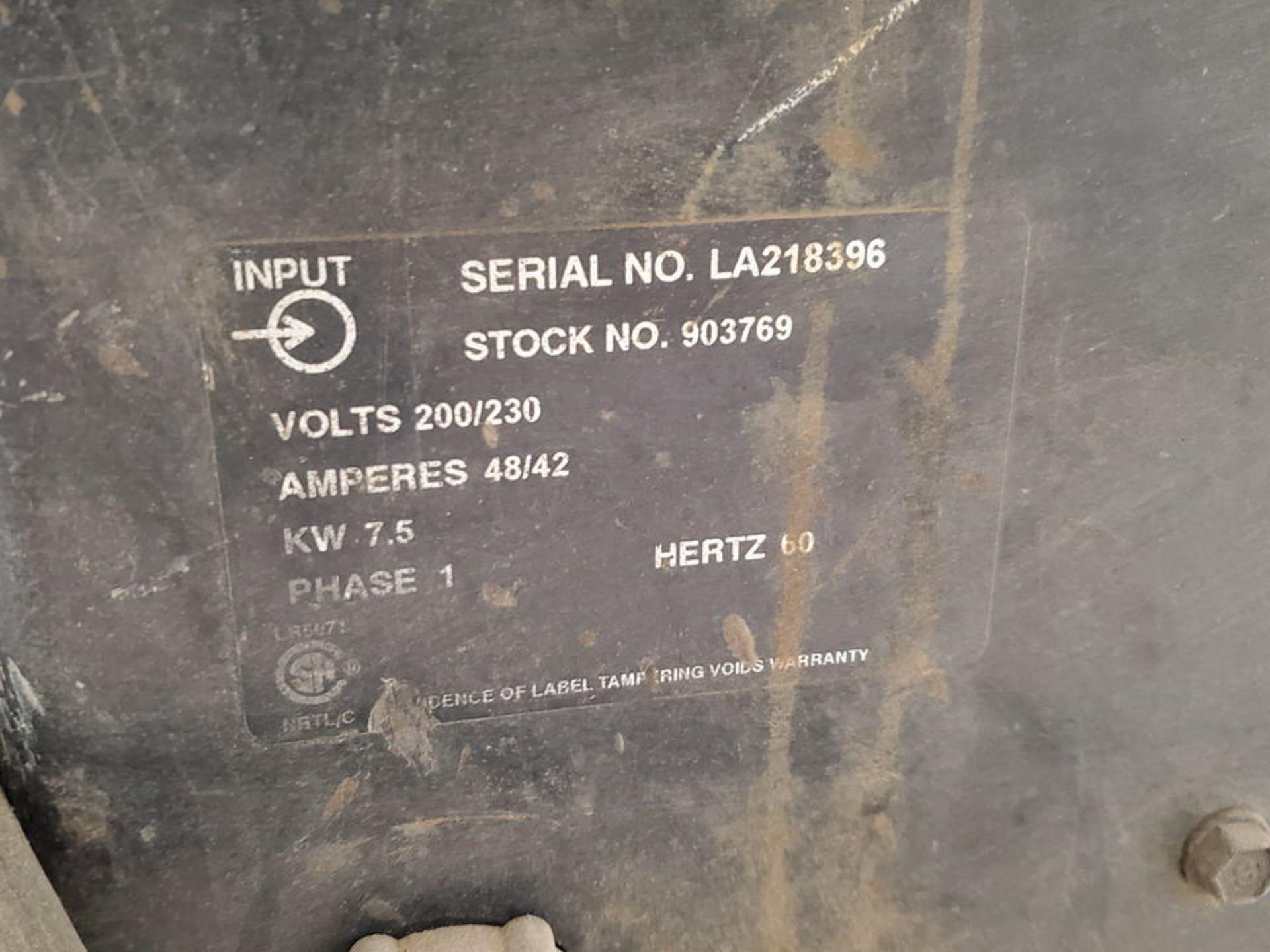Miller Millermatic 250 Plasma Cutter 200/230V, 48/42A, 1PH, 60HZ - Image 7 of 7