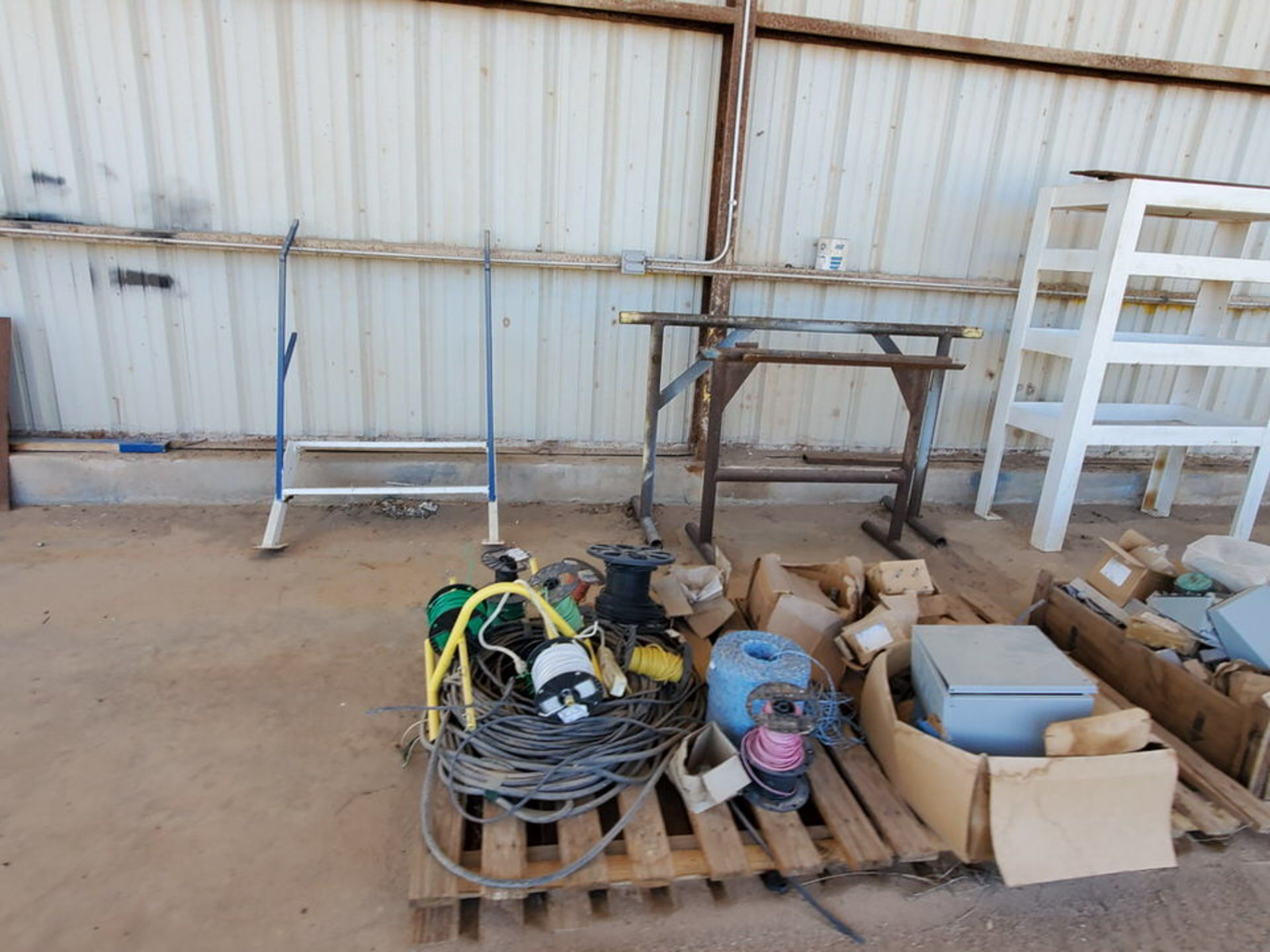 Misc. Matl. To Include But Not Limited To: Lift Basket, Welding Table, Sheet Metal, Ele Wire, Rope - Image 10 of 13