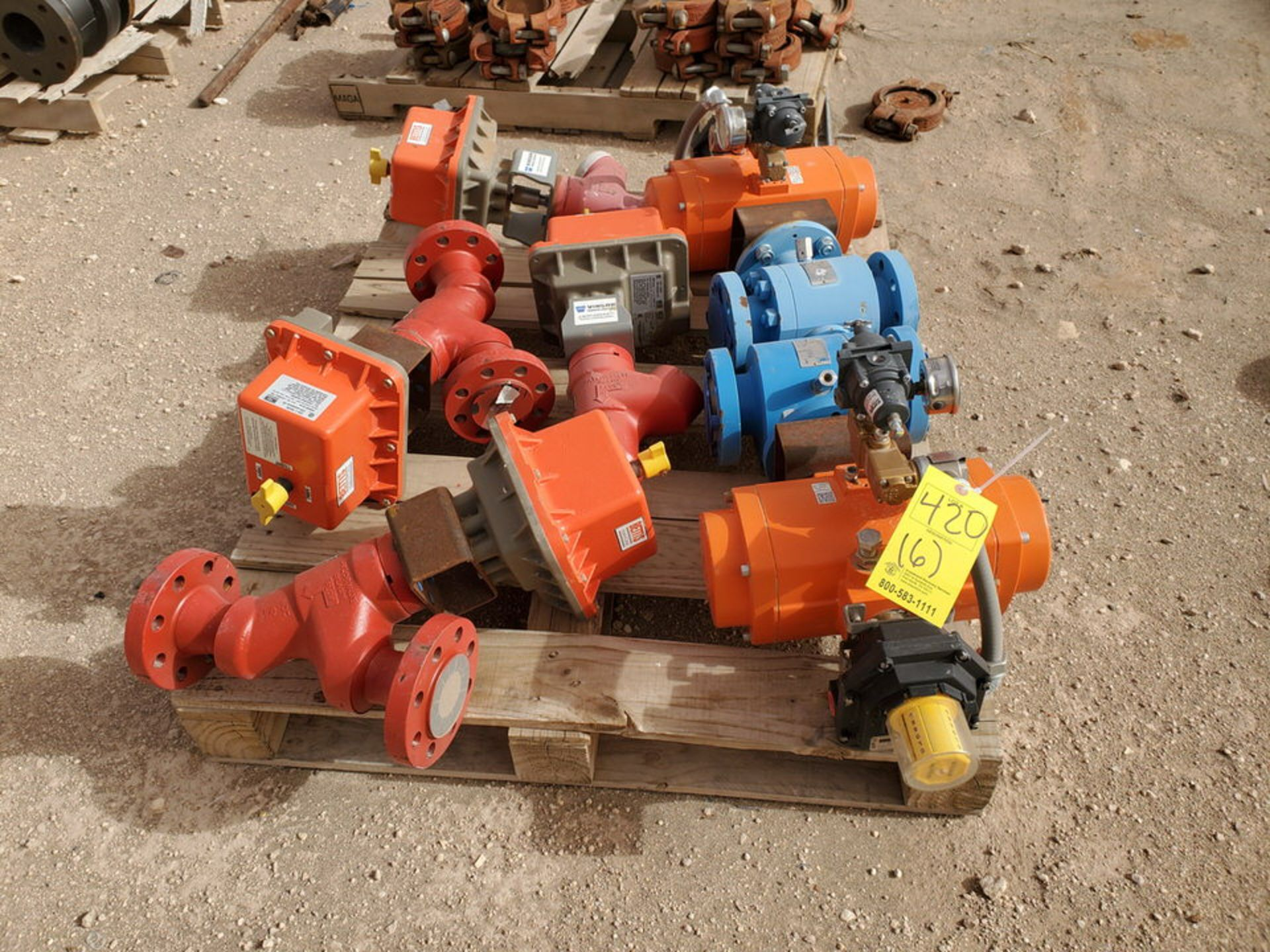 """GWC Assorted Actuated Valves (2) 2"""" x 2"""" 600# Ball Valves W/ Bettis Actuators; W/ (4) Taylor 2"""" 600#"""